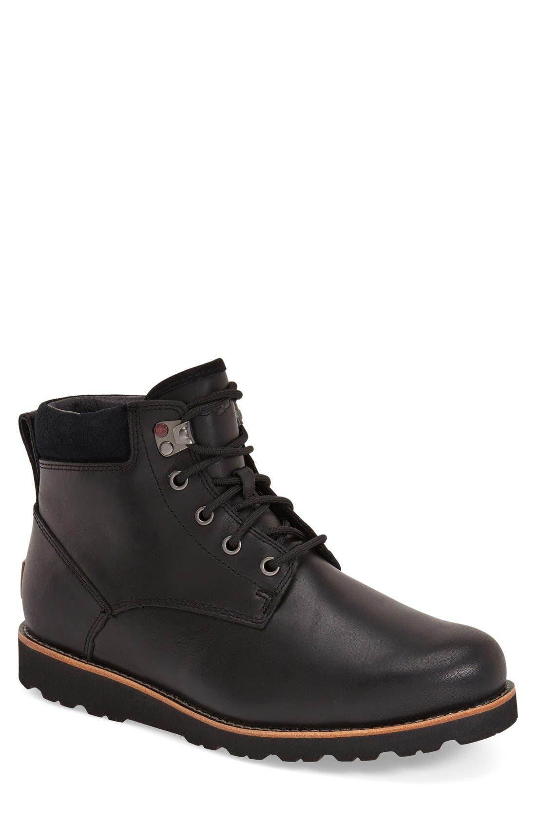 Seton Waterproof Chukka Boot,                         Main,                         color, BLACK