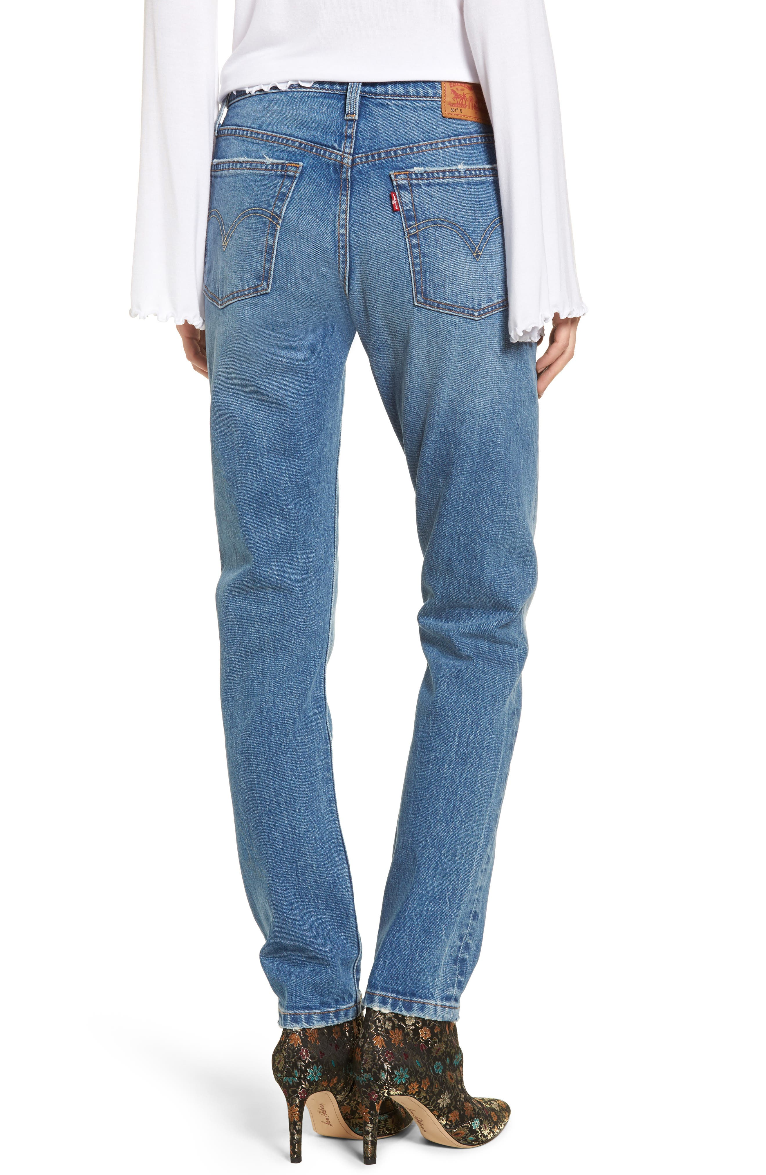 501 High Waist Skinny Jeans,                             Alternate thumbnail 2, color,