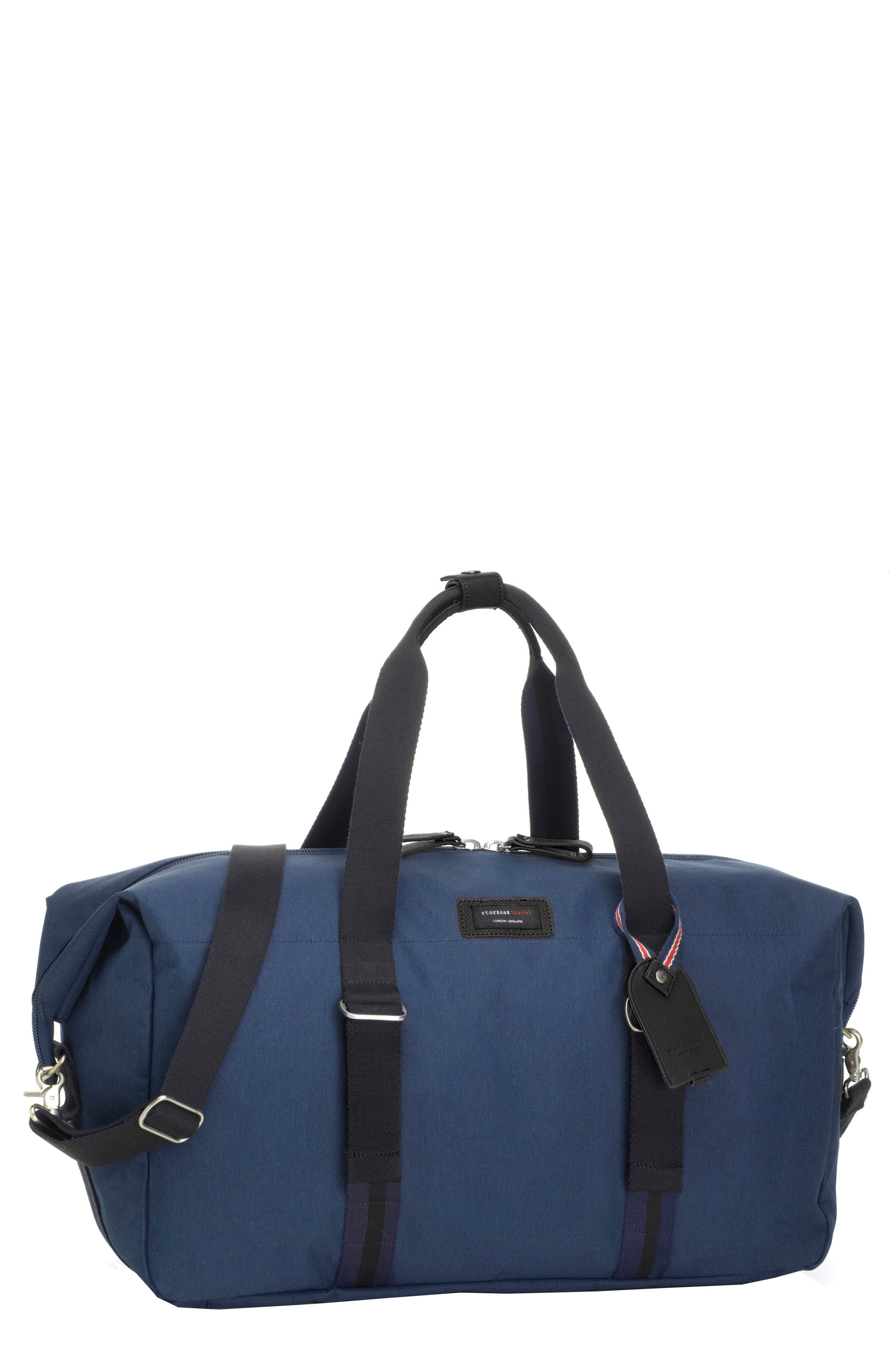 Travel Duffel with Hanging Organizer,                         Main,                         color, NAVY