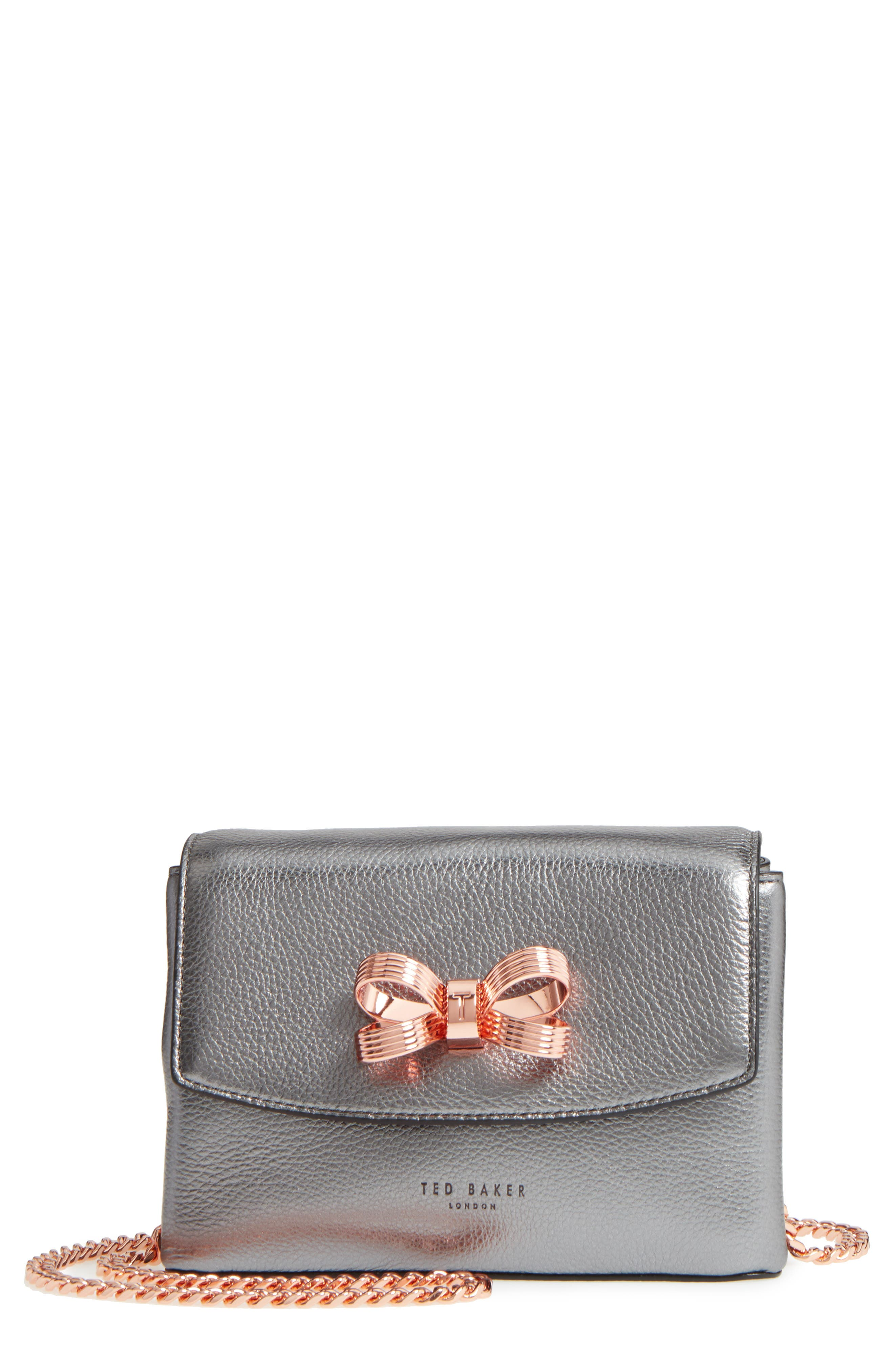 Lupiin Metallic Leather Crossbody Bag,                         Main,                         color, 022