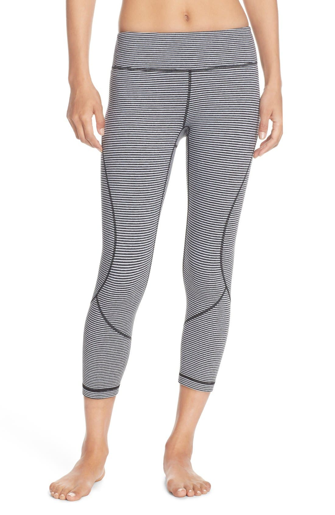 'Live In' Crop Leggings,                             Main thumbnail 1, color,                             001