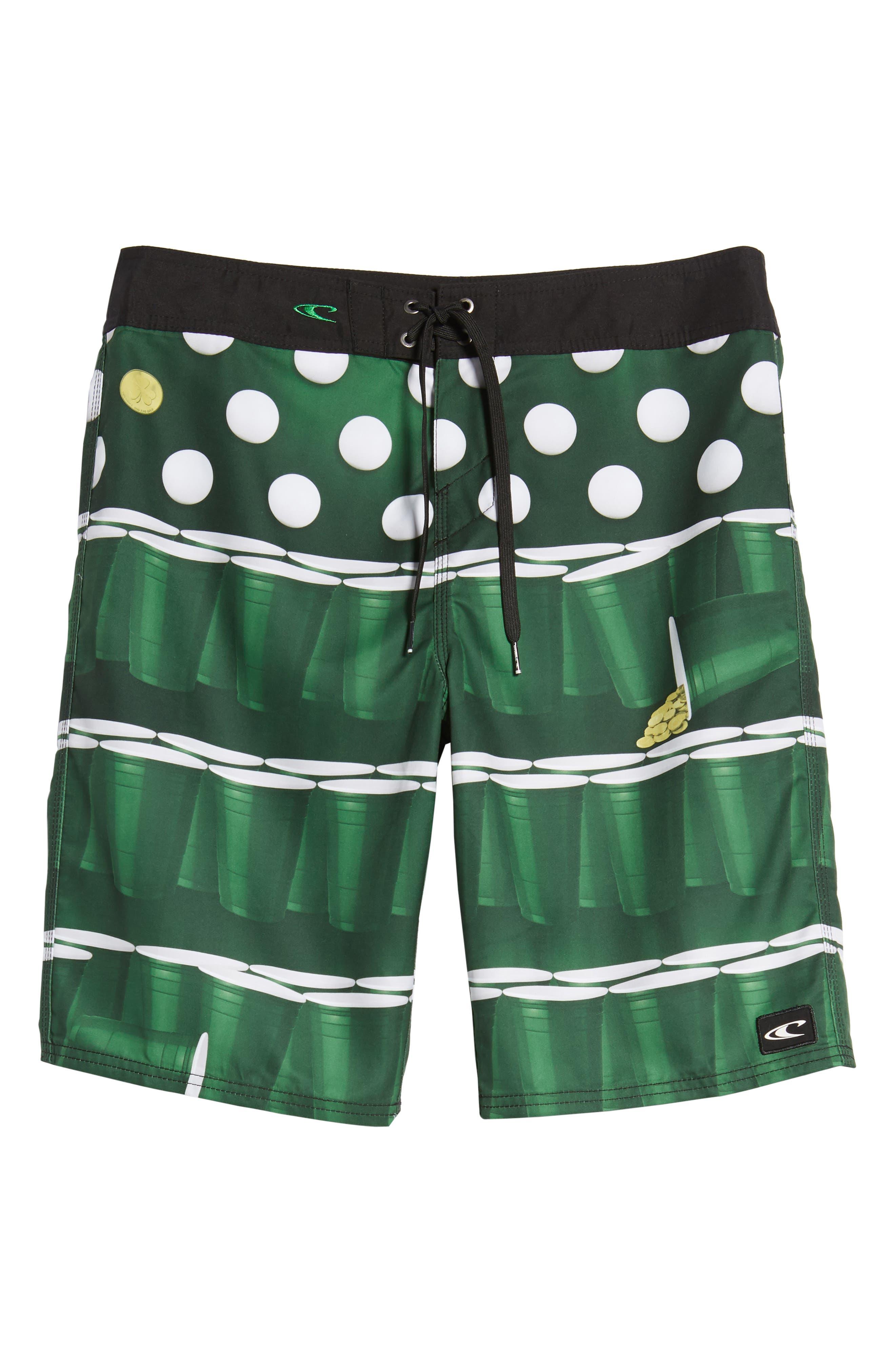 St. Paddy's Pong Board Shorts,                             Alternate thumbnail 6, color,                             300