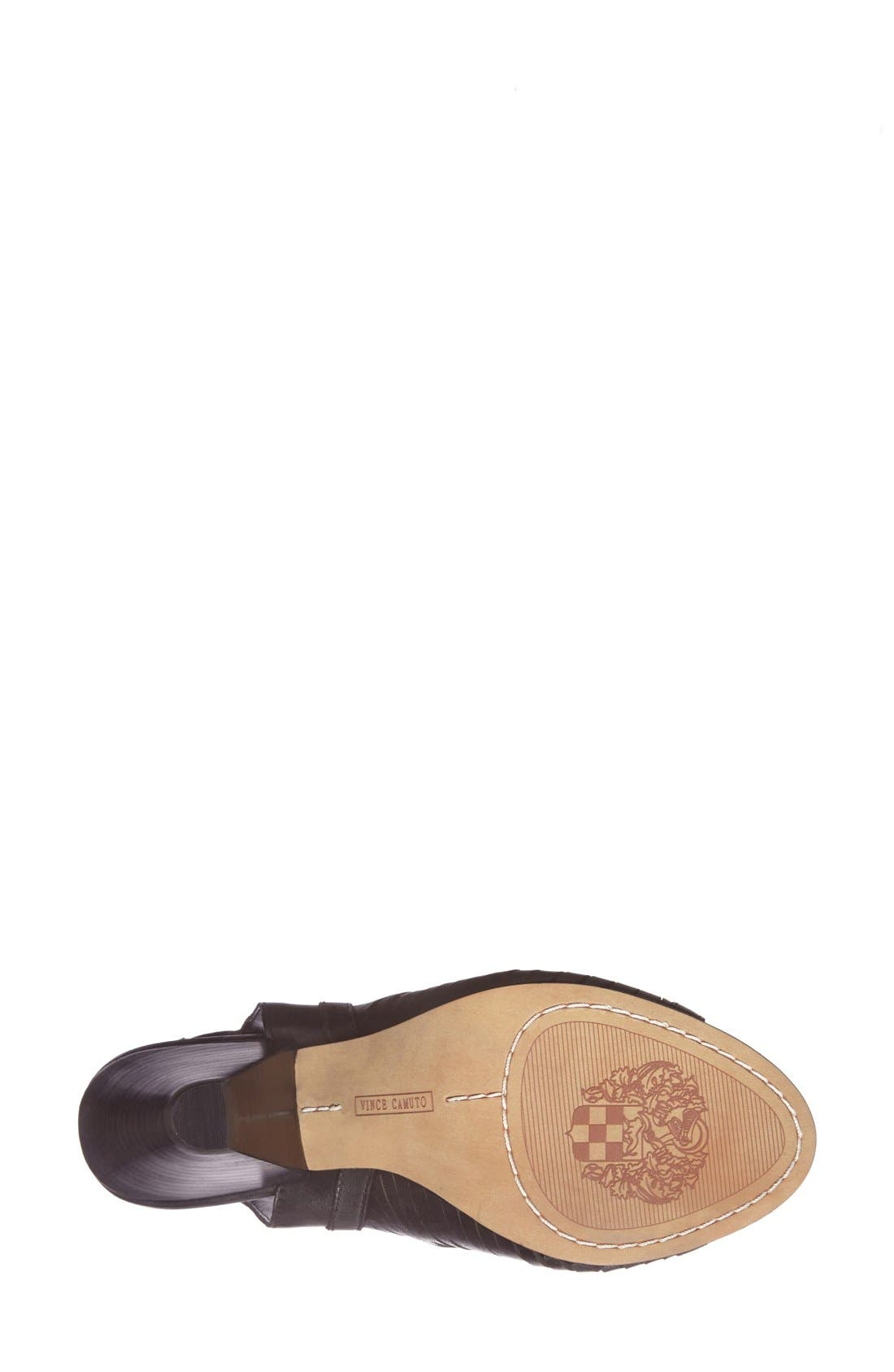 'Emore' Leather Sandal,                             Alternate thumbnail 4, color,                             001