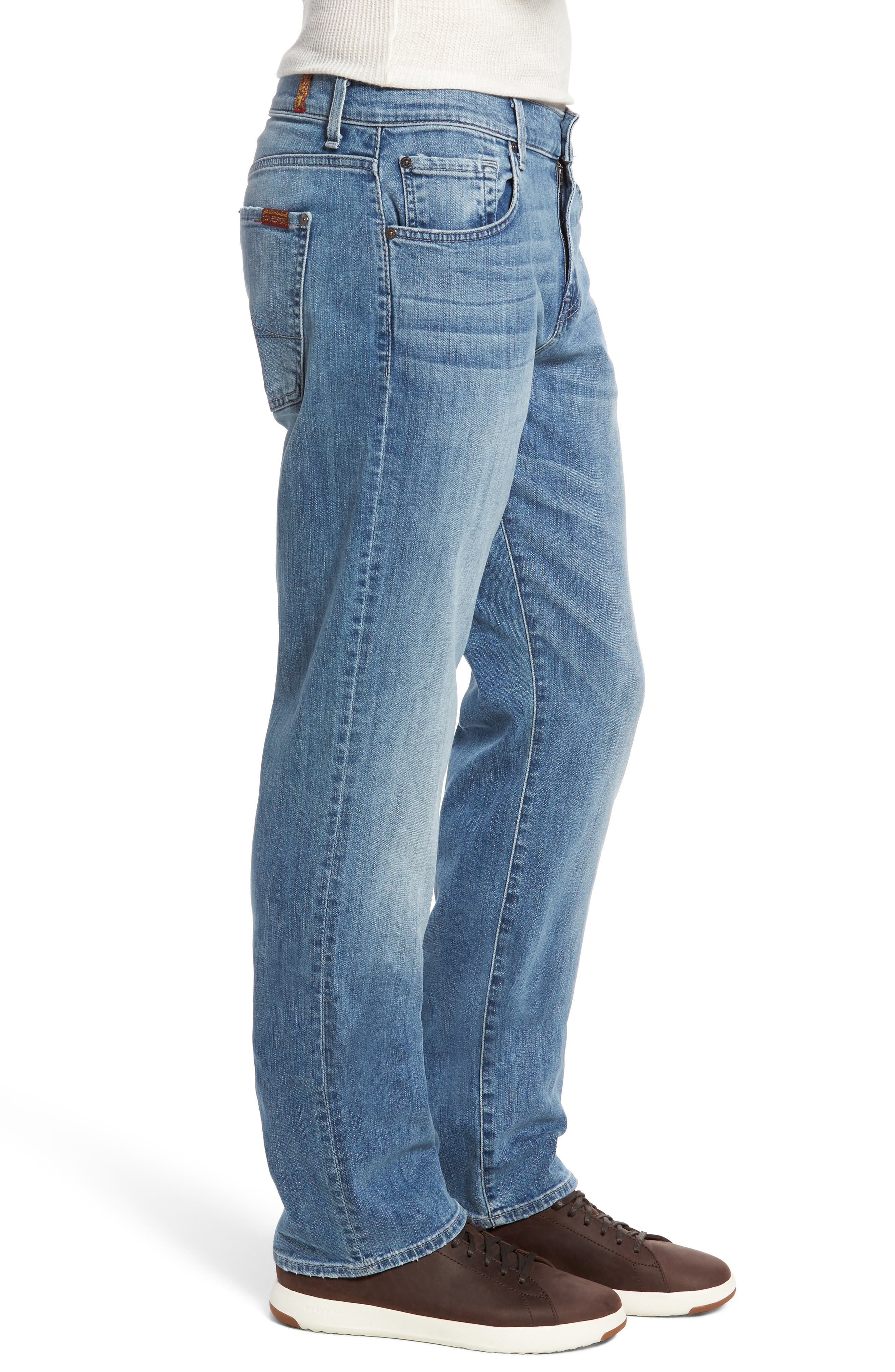 7 FOR ALL MANKIND<SUP>®</SUP>,                             Luxe Performance - Carsen Straight Leg Jeans,                             Alternate thumbnail 3, color,                             HOMAGE