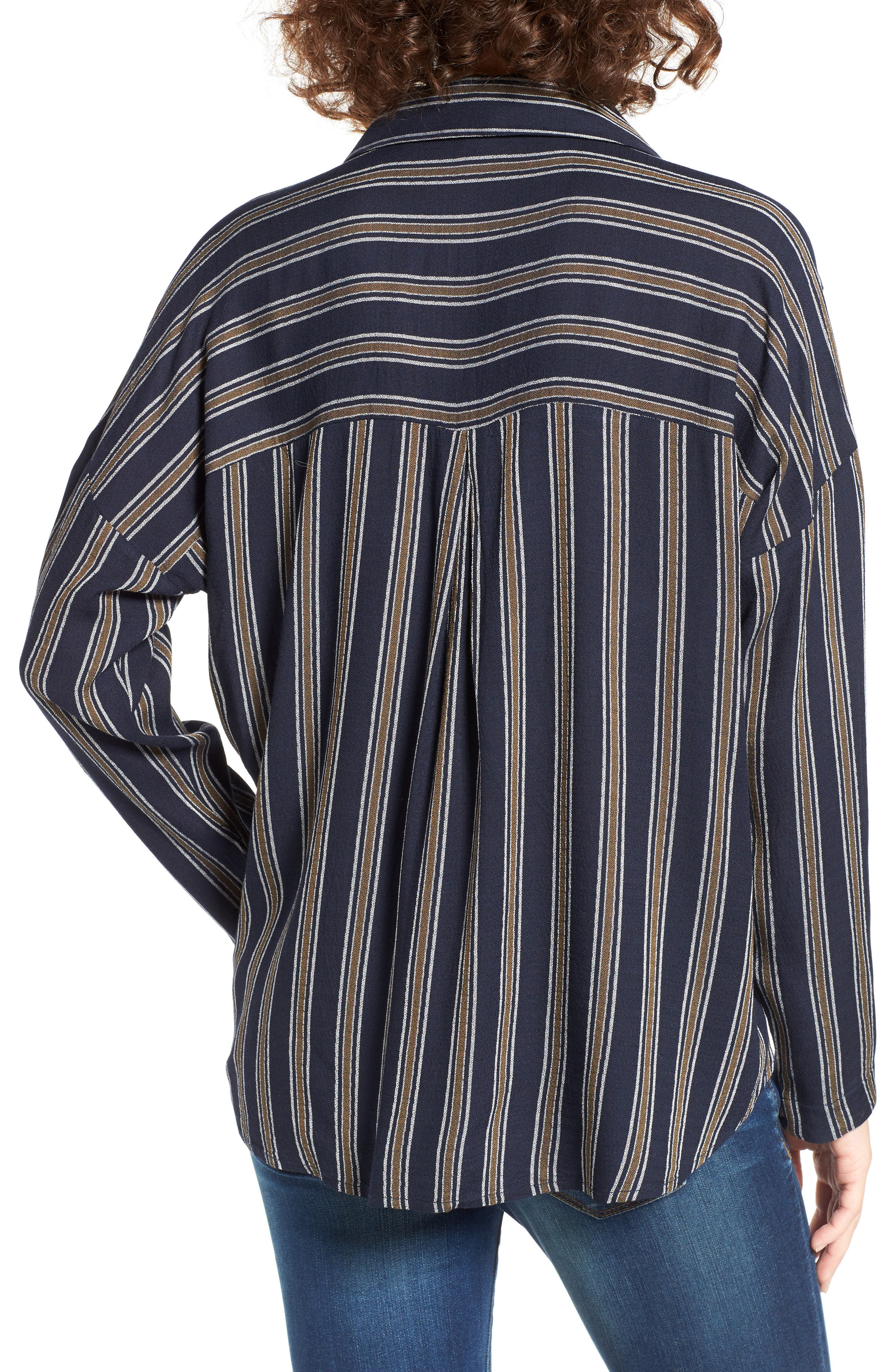 BP.,                             Stripe Button Front Shirt,                             Alternate thumbnail 2, color,                             410