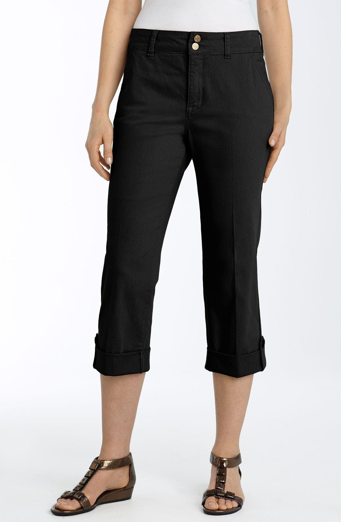 'Katia' Capri Jeans,                             Alternate thumbnail 2, color,                             001