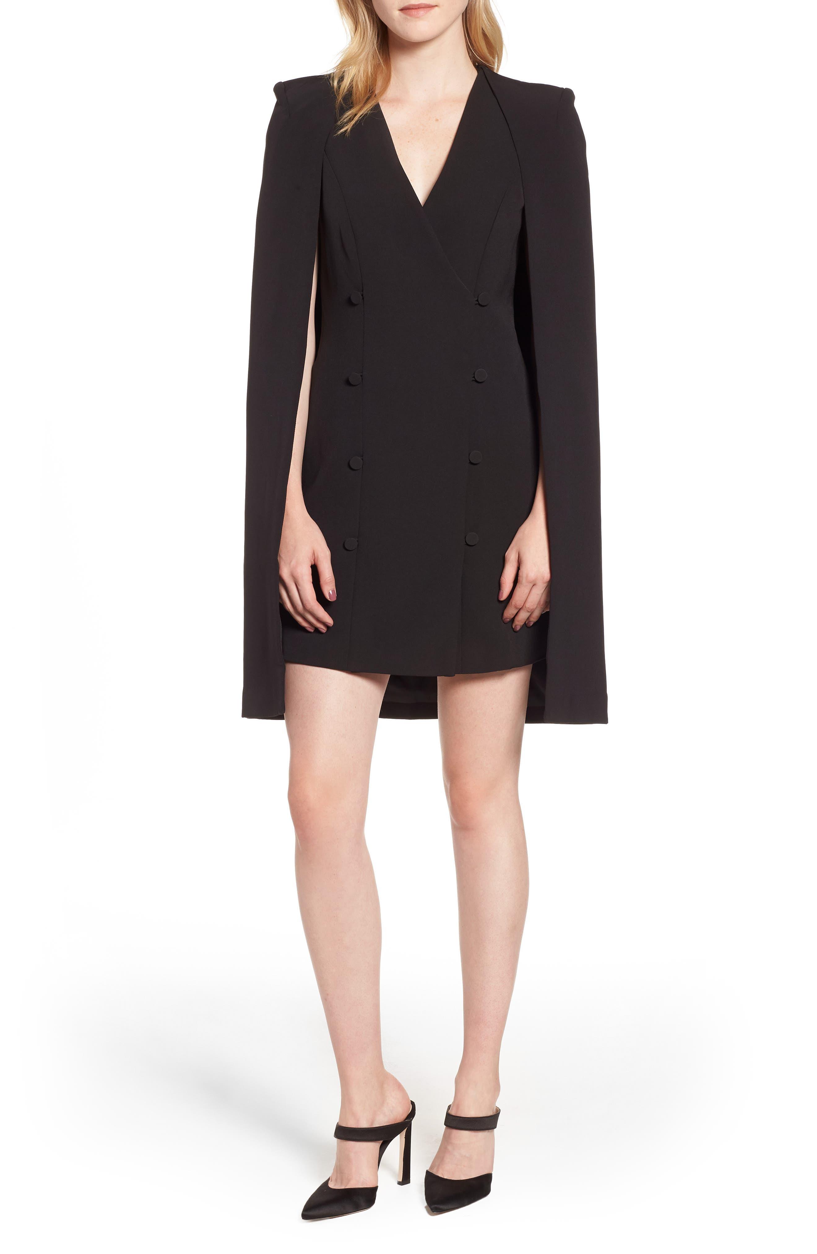 ELLIATT Sorrento Cape Dress, Main, color, 001