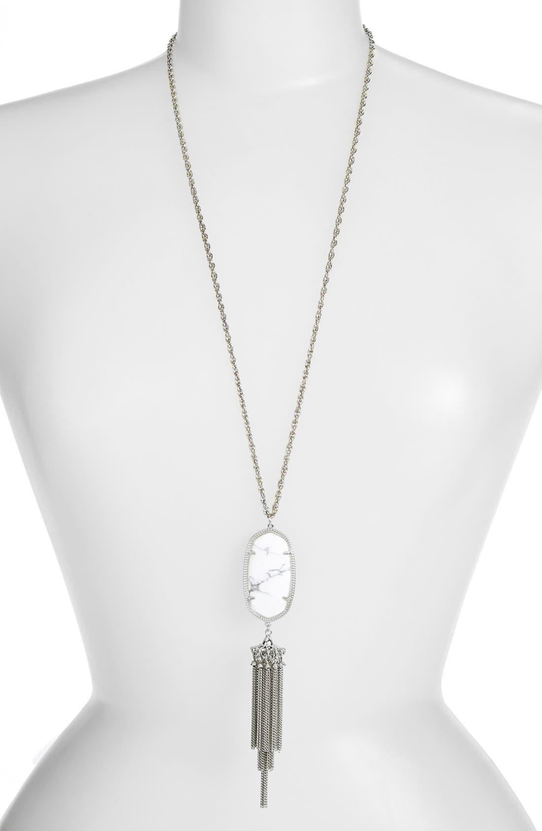 'Rayne' Tassel Pendant Necklace,                             Main thumbnail 2, color,