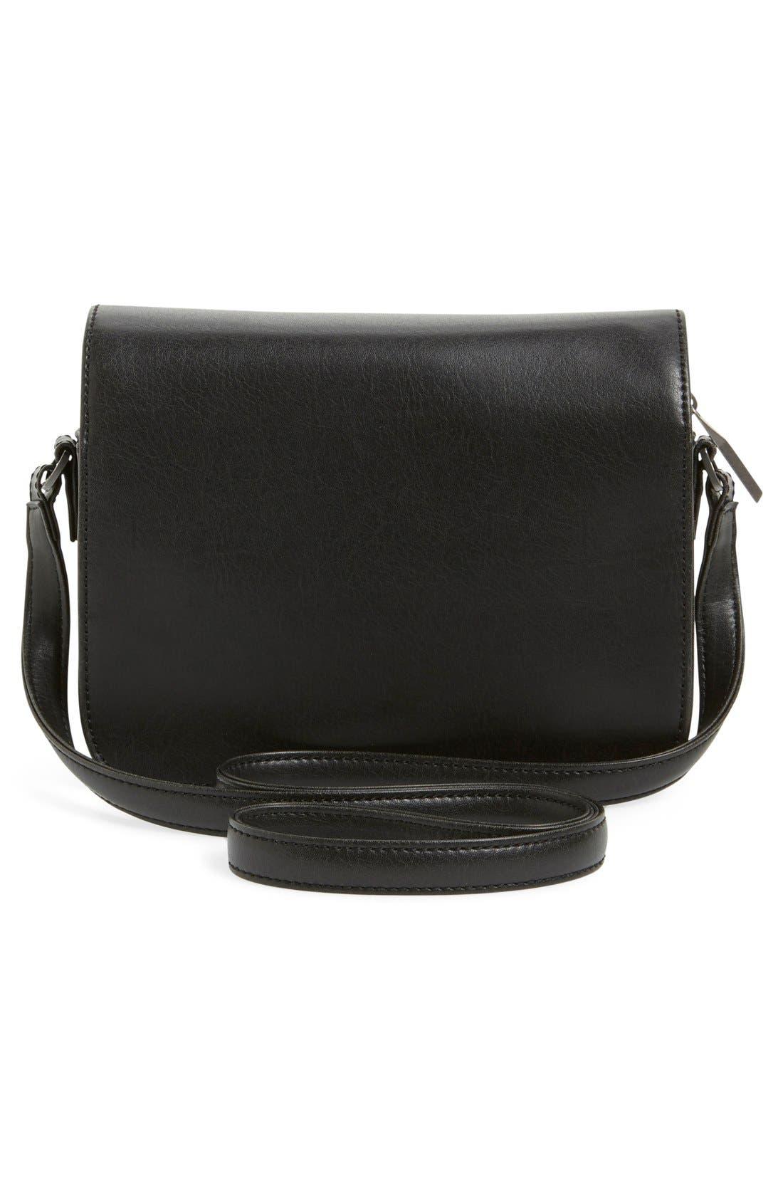 MATT & NAT,                             'Elle' Vegan Leather Crossbody Bag,                             Alternate thumbnail 4, color,                             001