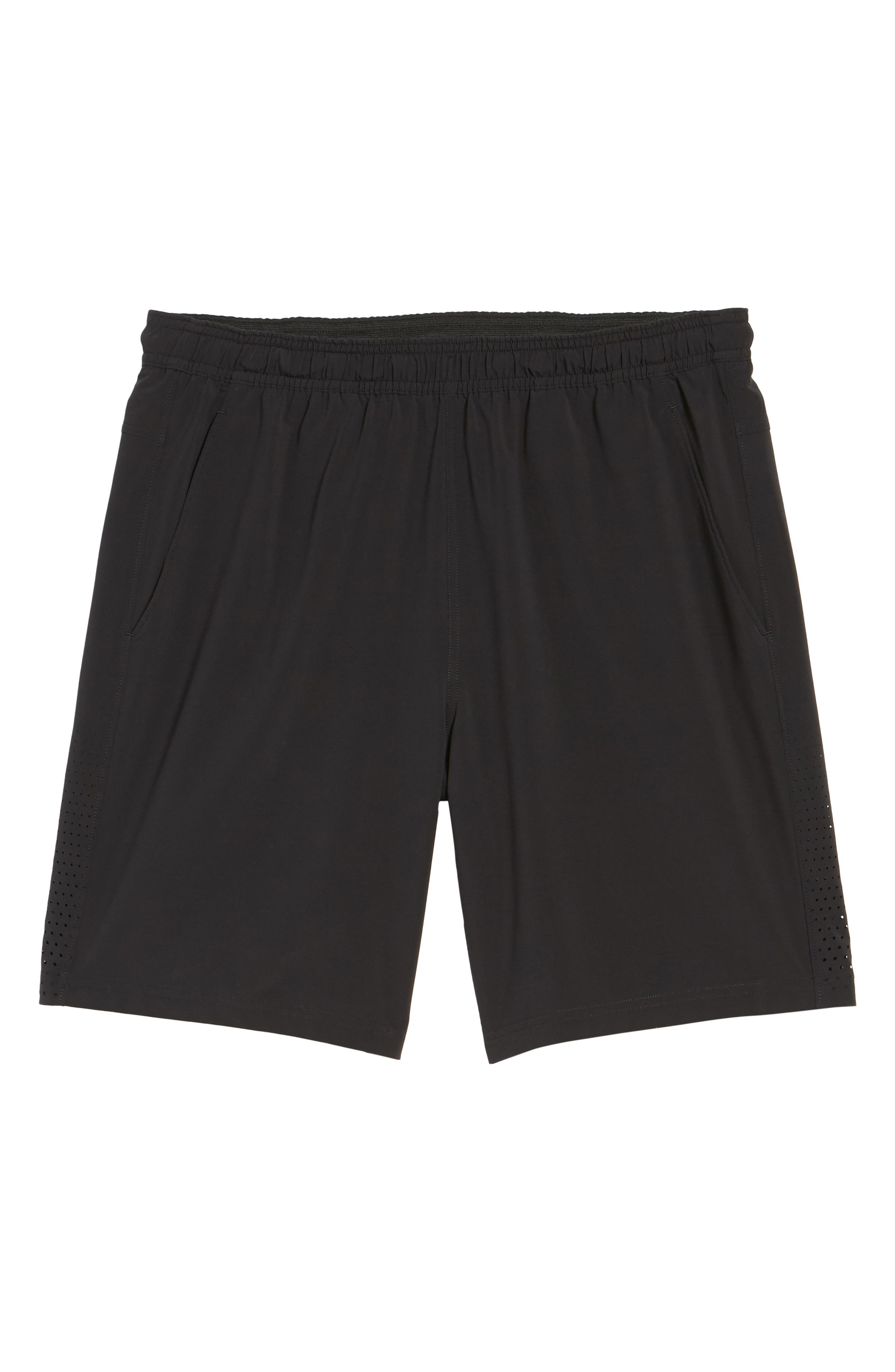 Graphite Core Athletic Shorts,                             Alternate thumbnail 6, color,                             BLACK