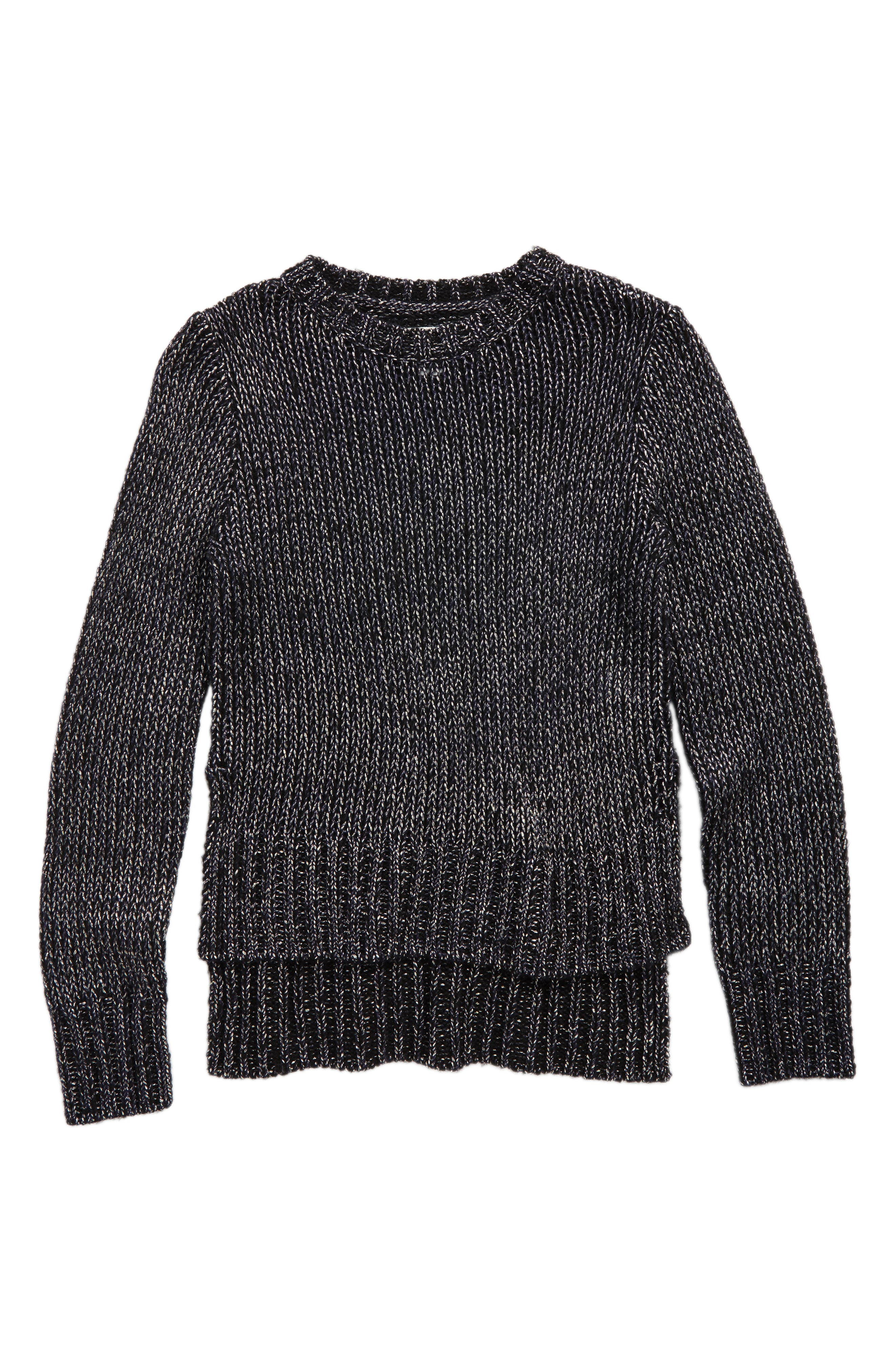 Metallic Sweater,                             Main thumbnail 1, color,                             001
