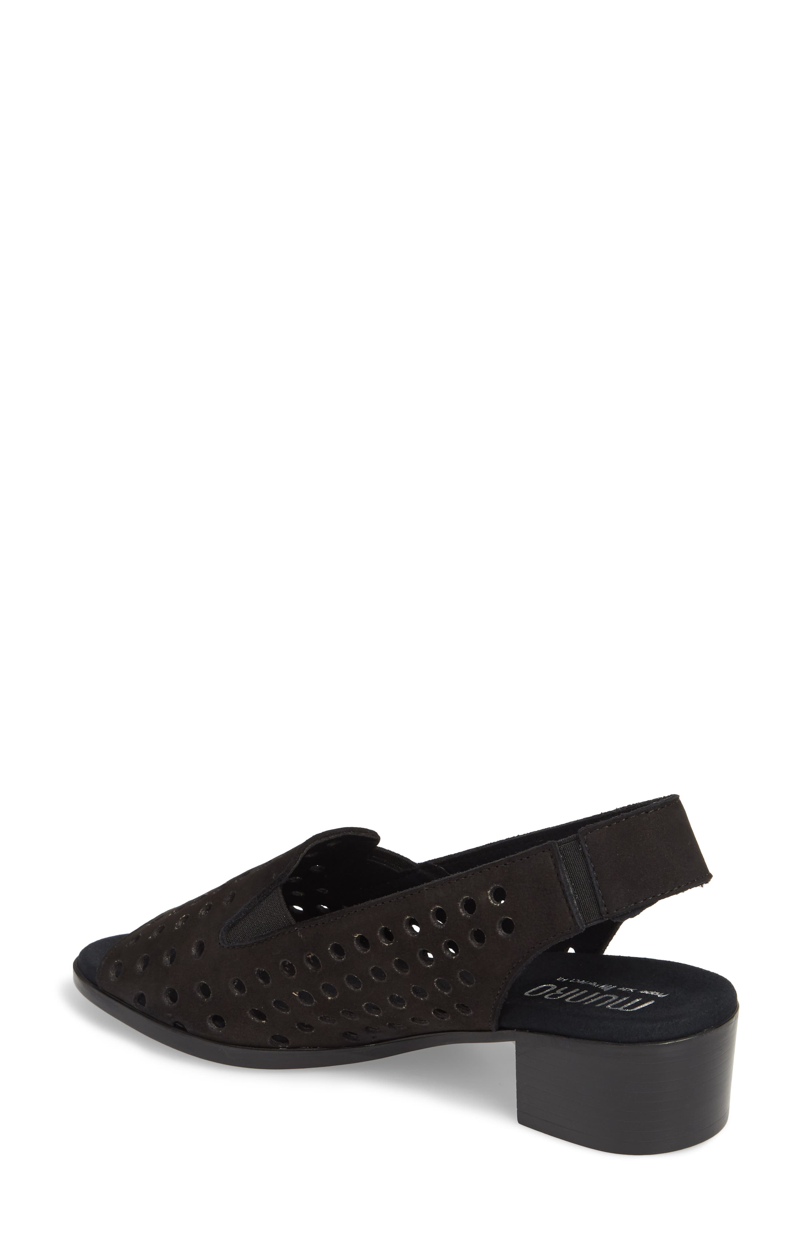 Mickee Slingback Sandal,                             Alternate thumbnail 2, color,                             BLACK NUBUCK LEATHER