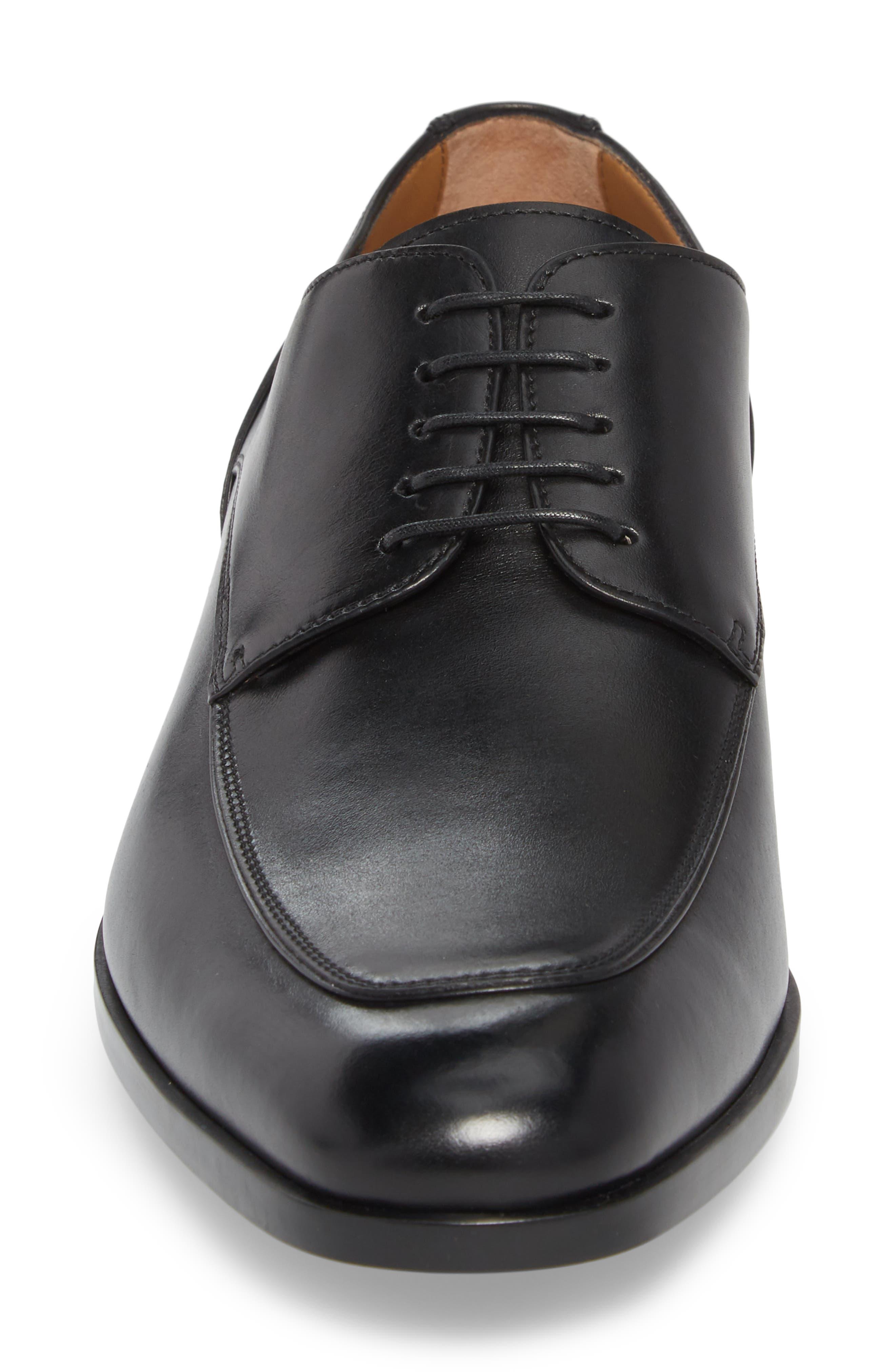 Hugo Boss Portland Apron Toe Derby,                             Alternate thumbnail 4, color,                             BLACK LEATHER