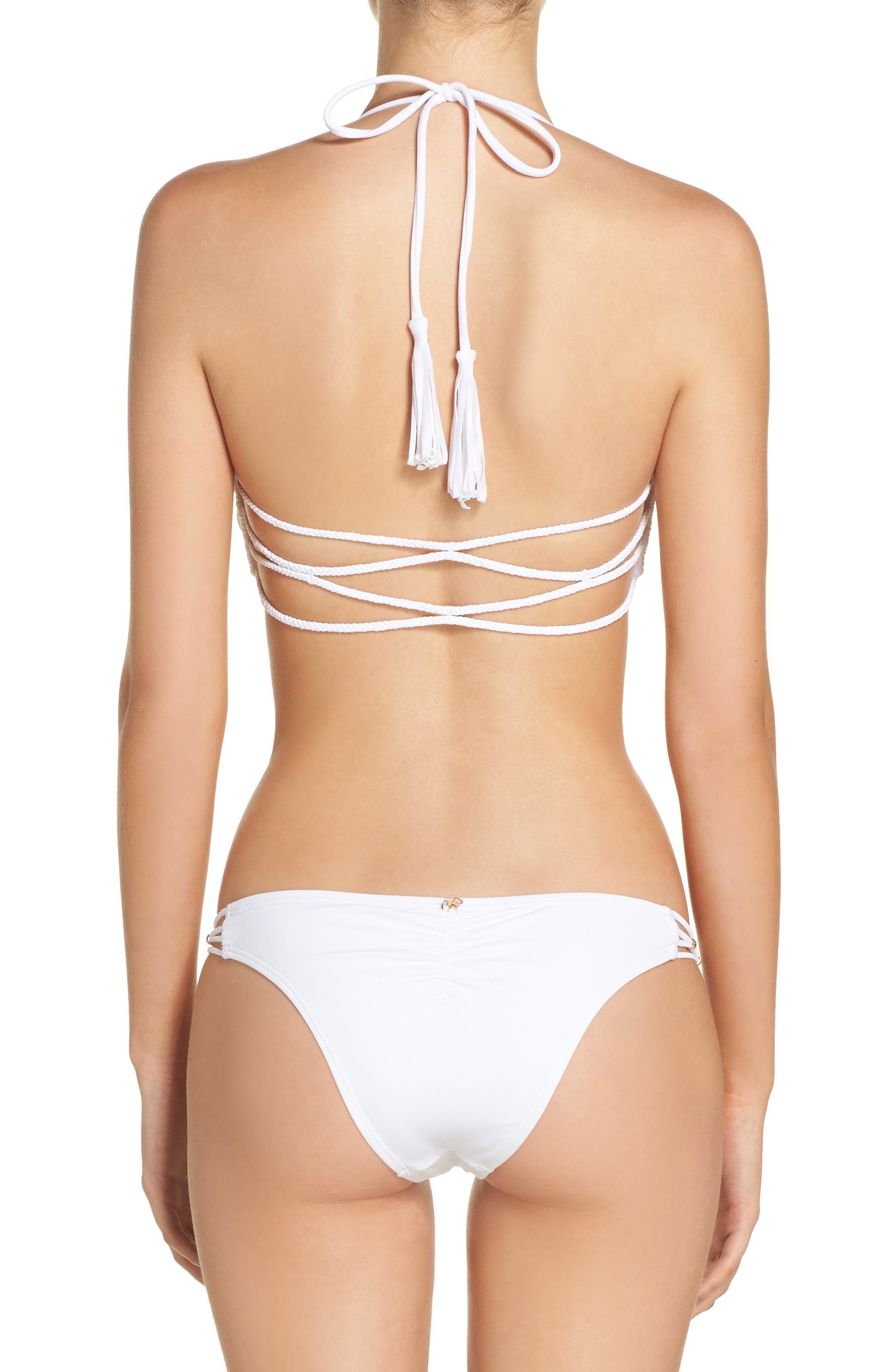 Braided Halter Bikini Top,                             Alternate thumbnail 7, color,                             100