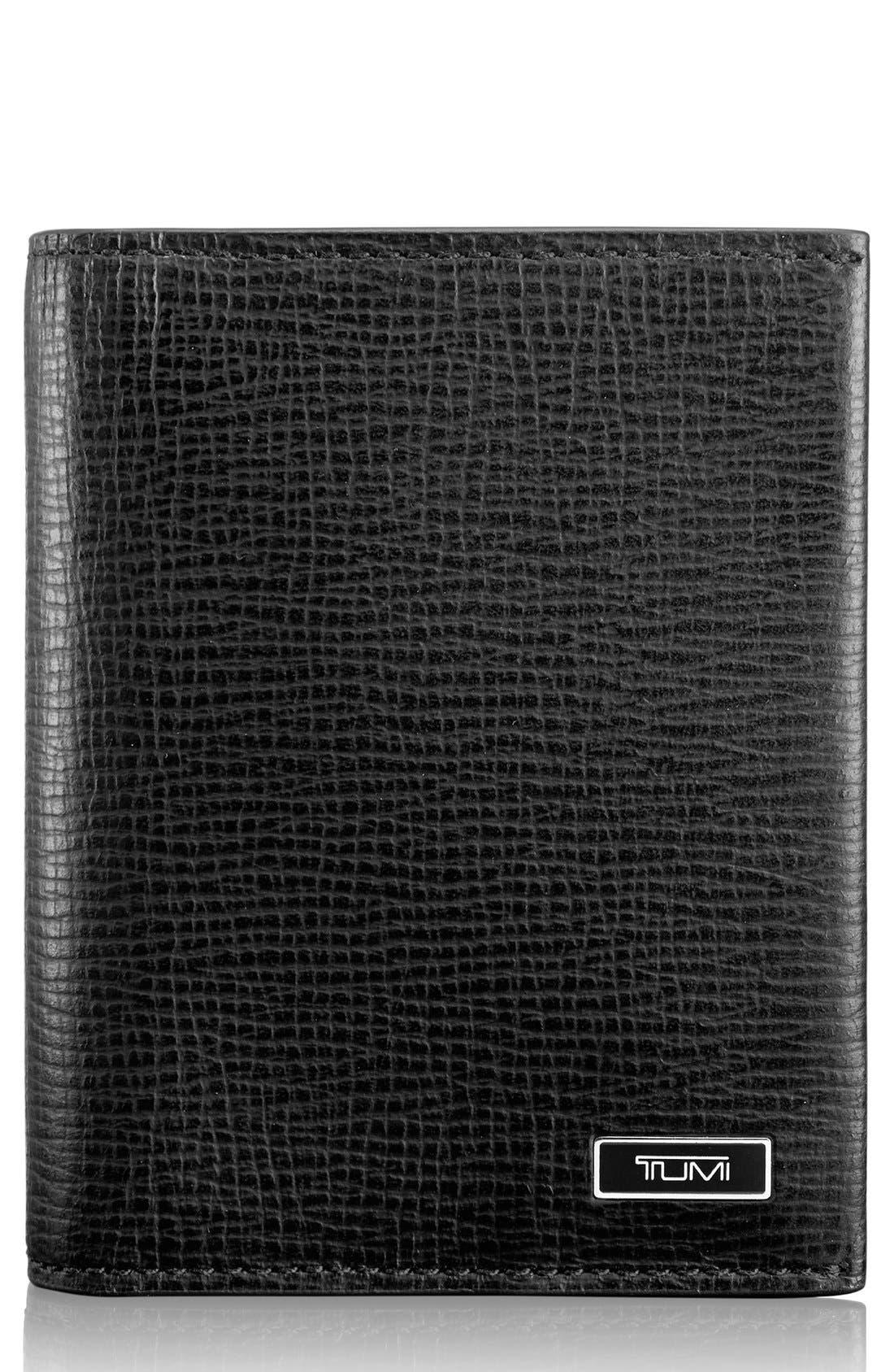 Monaco Leather Card Case,                         Main,                         color, 001