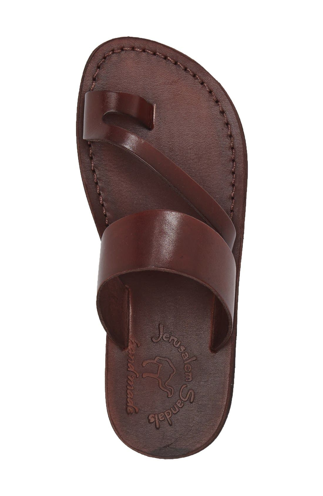 'Zohar' Leather Sandal,                             Alternate thumbnail 17, color,