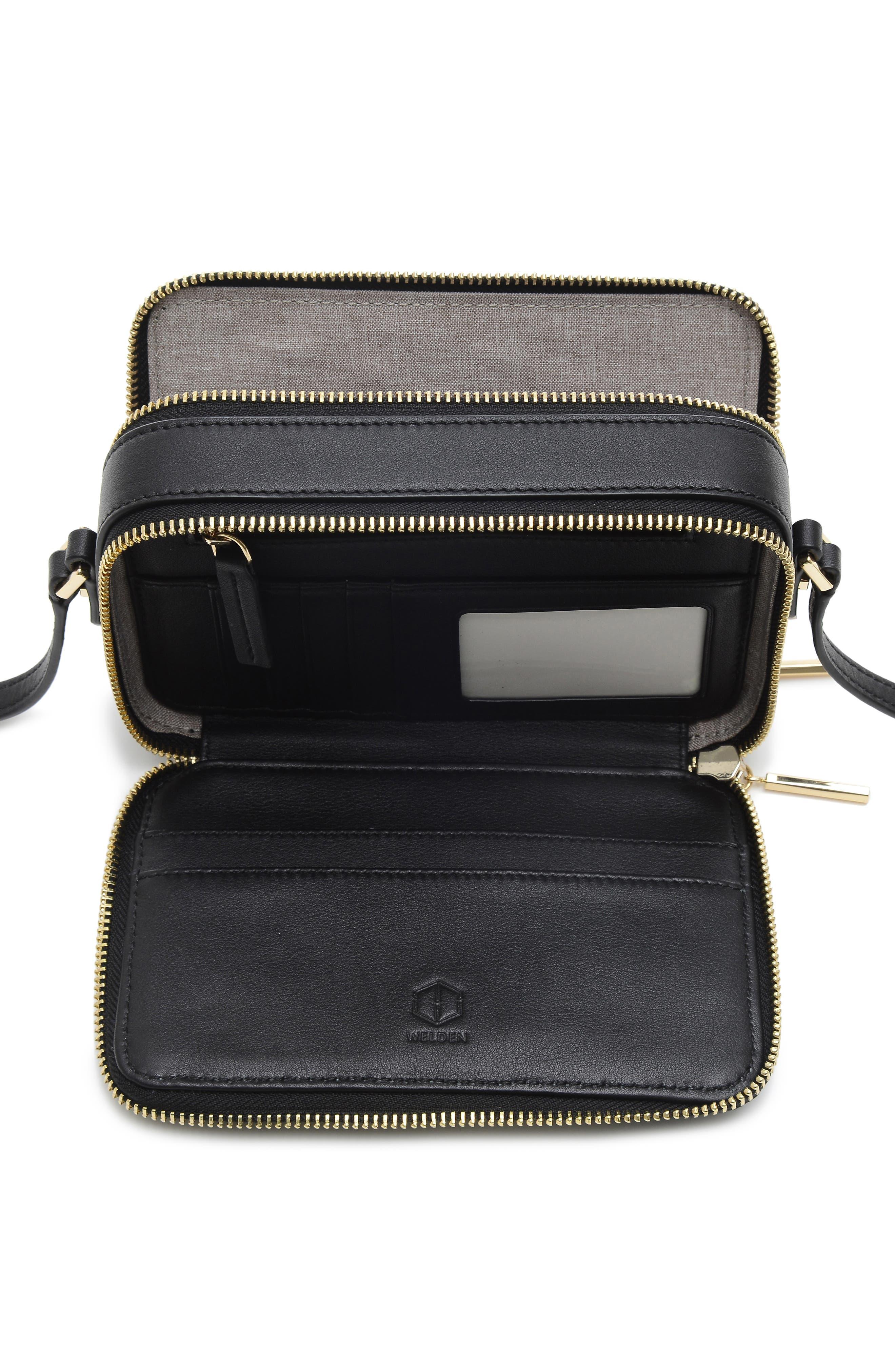 Roam Leather Camera Bag,                             Alternate thumbnail 4, color,                             BLACK