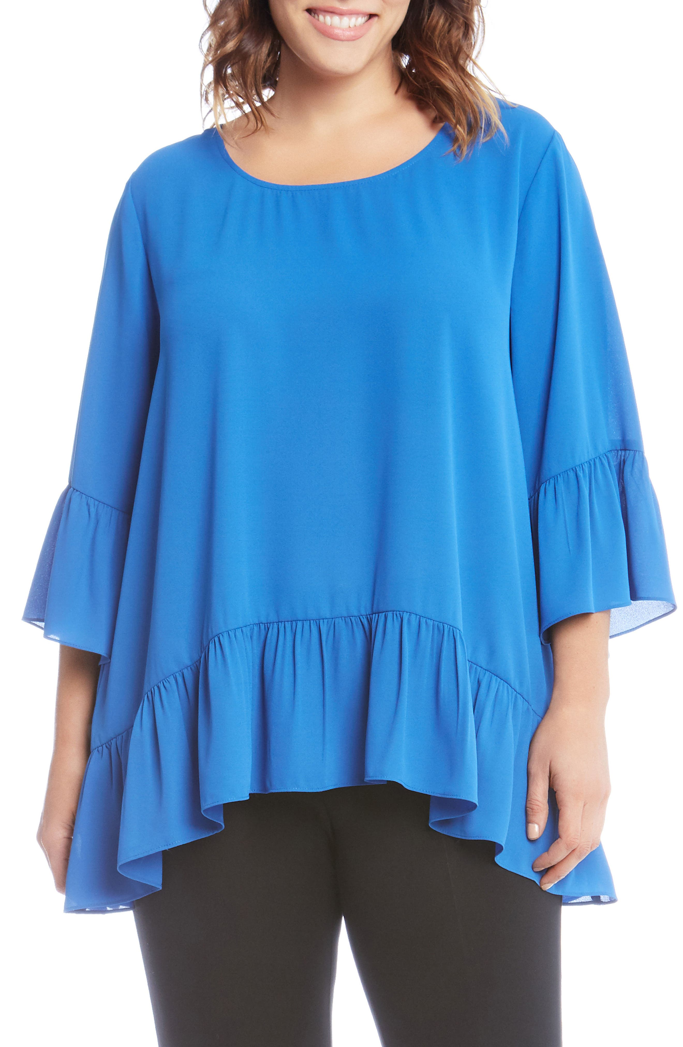 Ruffle Hem Top,                             Main thumbnail 2, color,