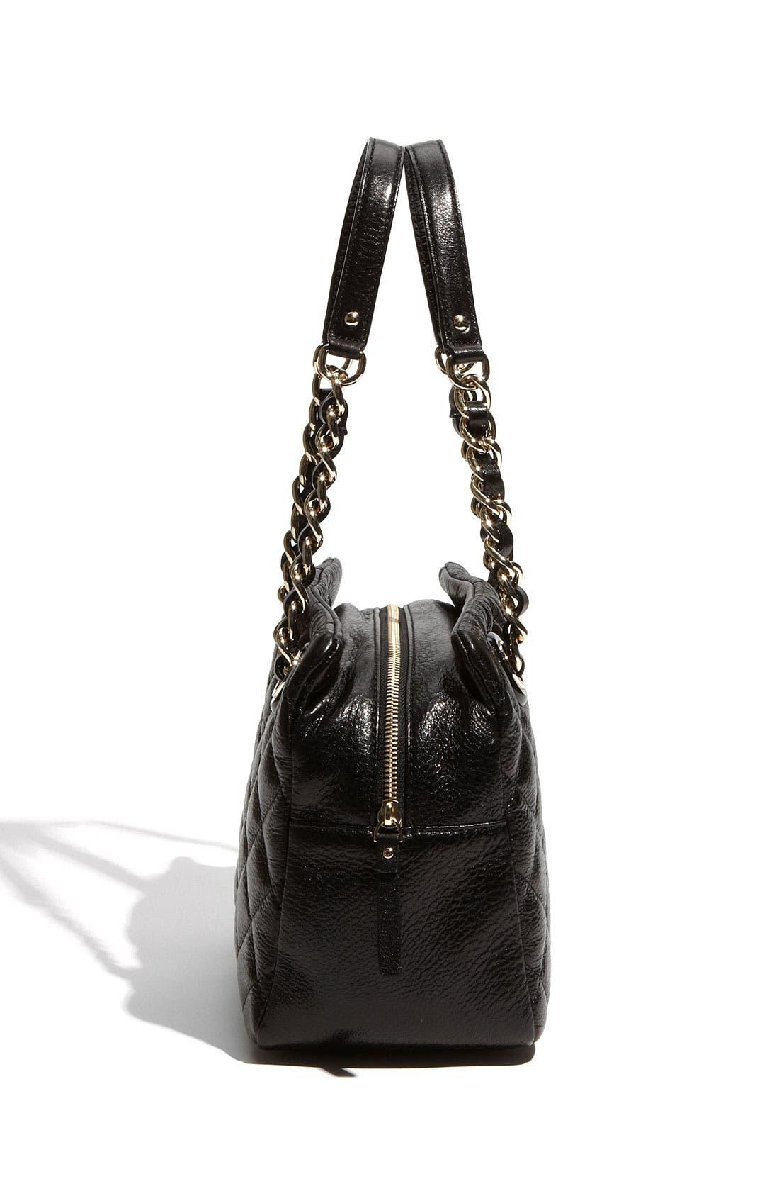 'gold coast - elizabeth' quilted leather shoulder bag,                             Alternate thumbnail 3, color,                             001