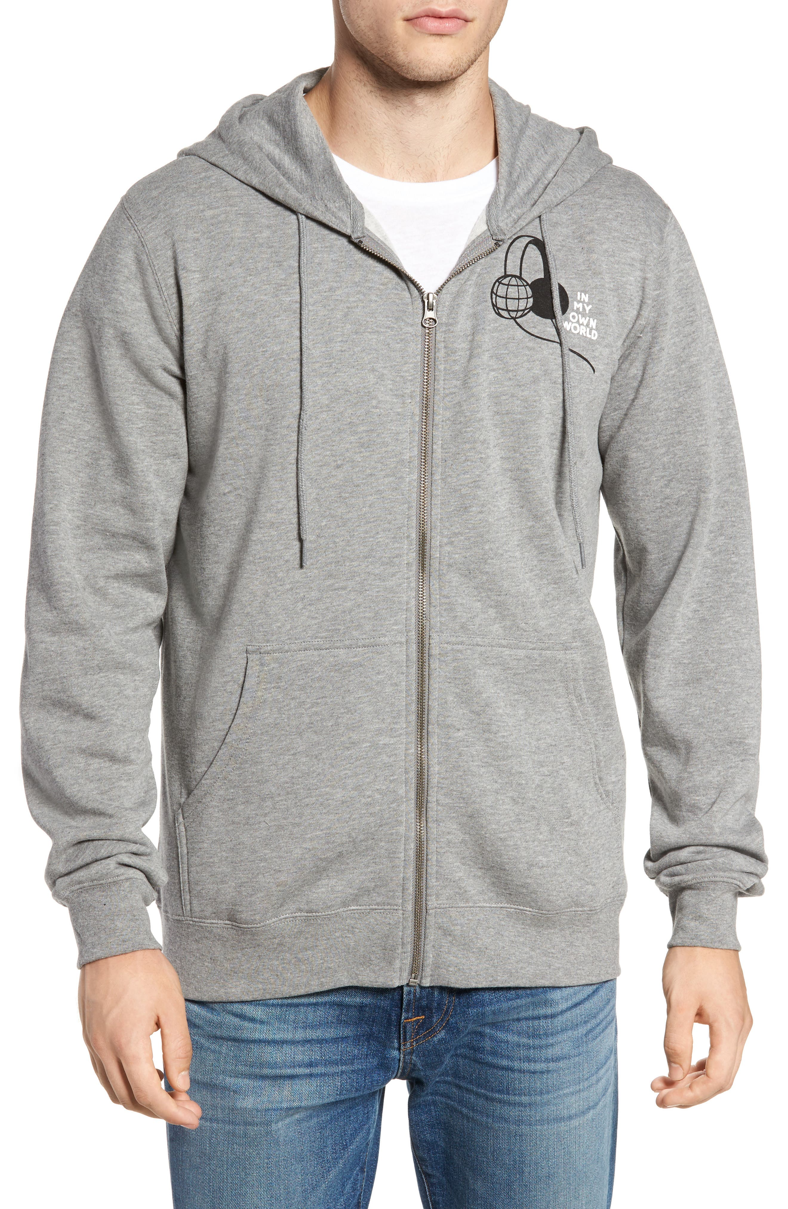 In My Own World Zip Hoodie,                             Main thumbnail 1, color,                             030