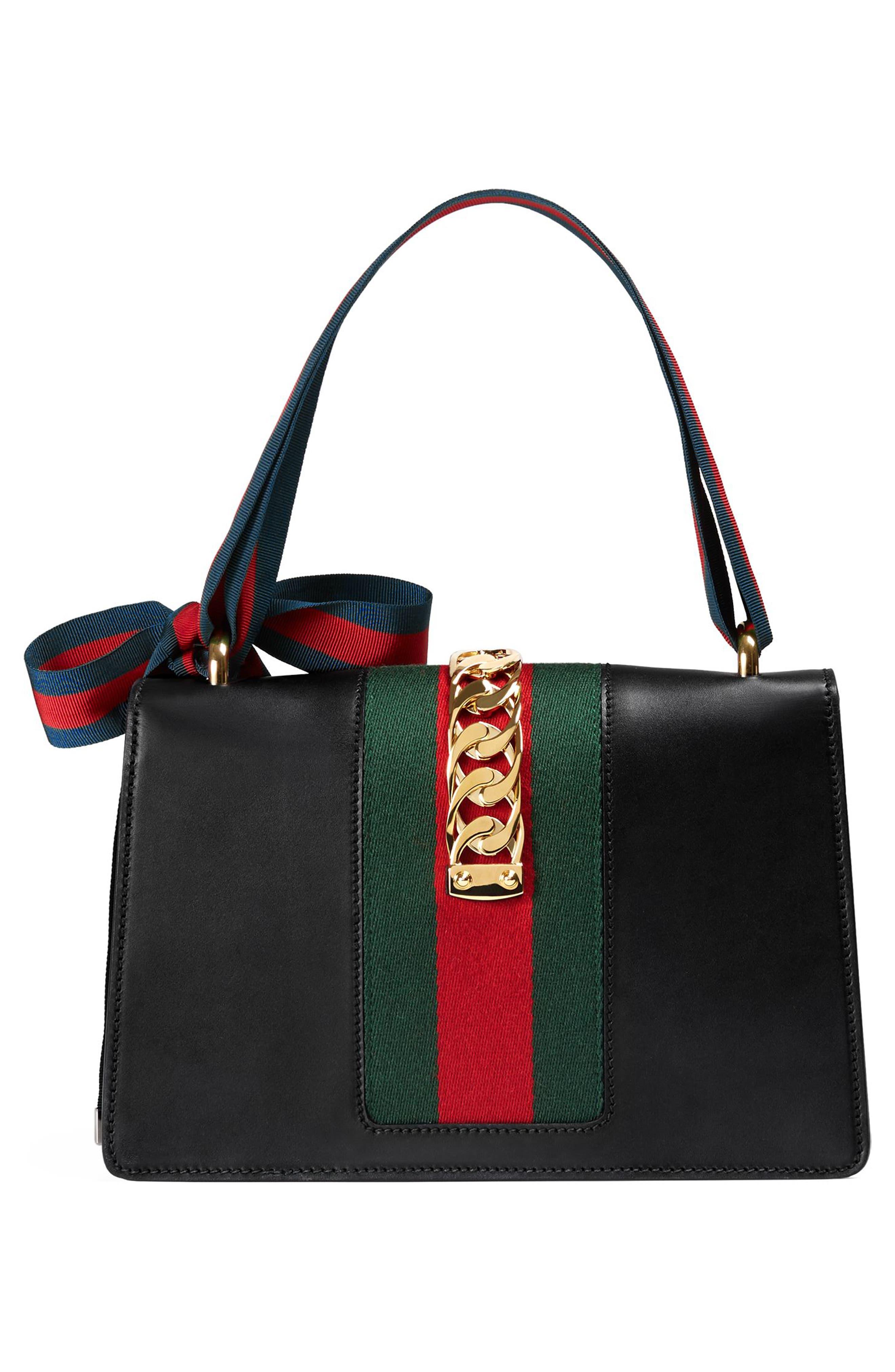 Small Sylvie Leather Shoulder Bag,                             Alternate thumbnail 2, color,                             NERO/ VRV/ BRB