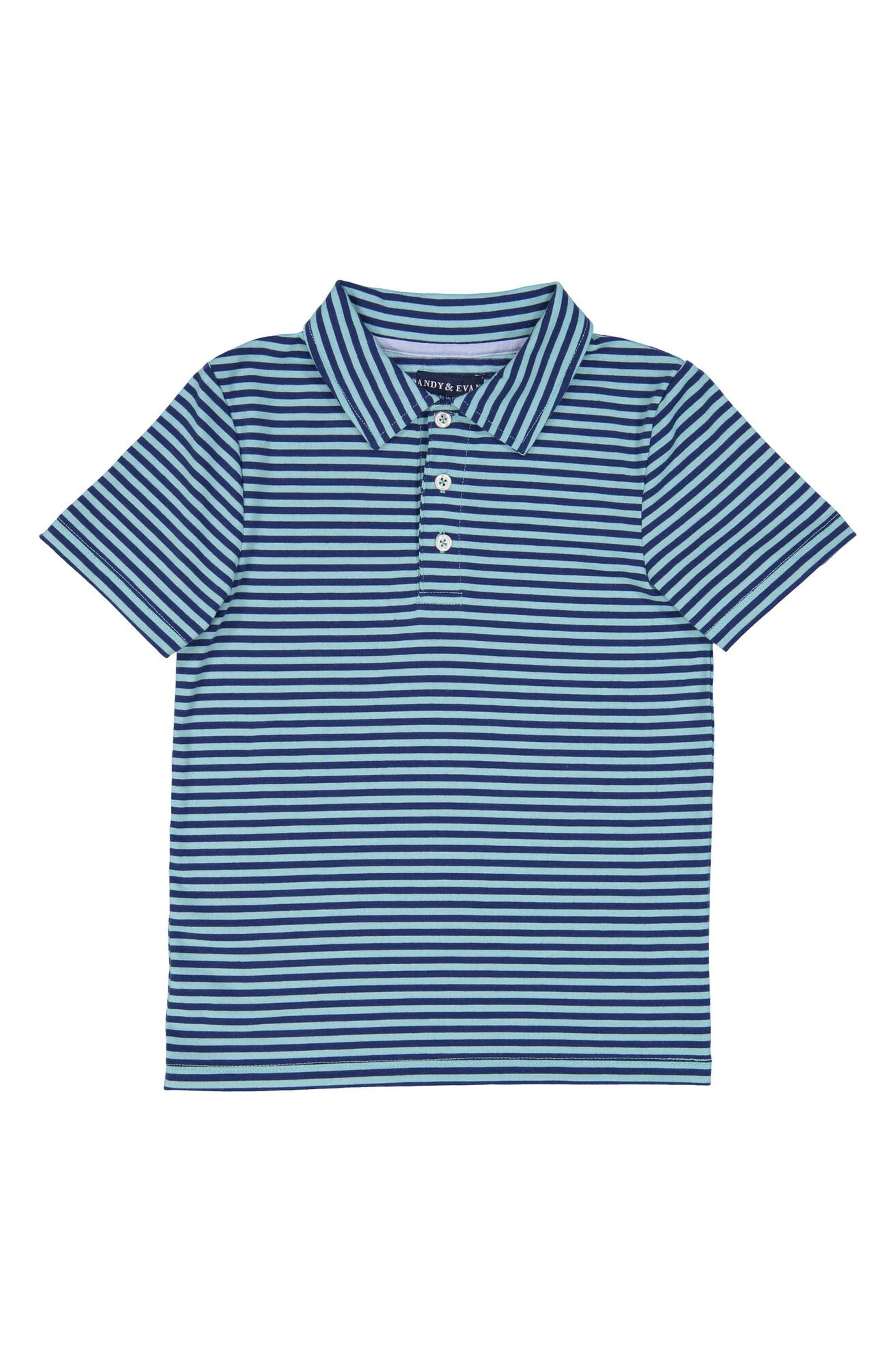 ANDY & EVAN,                             Stripe Athletic Polo,                             Main thumbnail 1, color,                             443