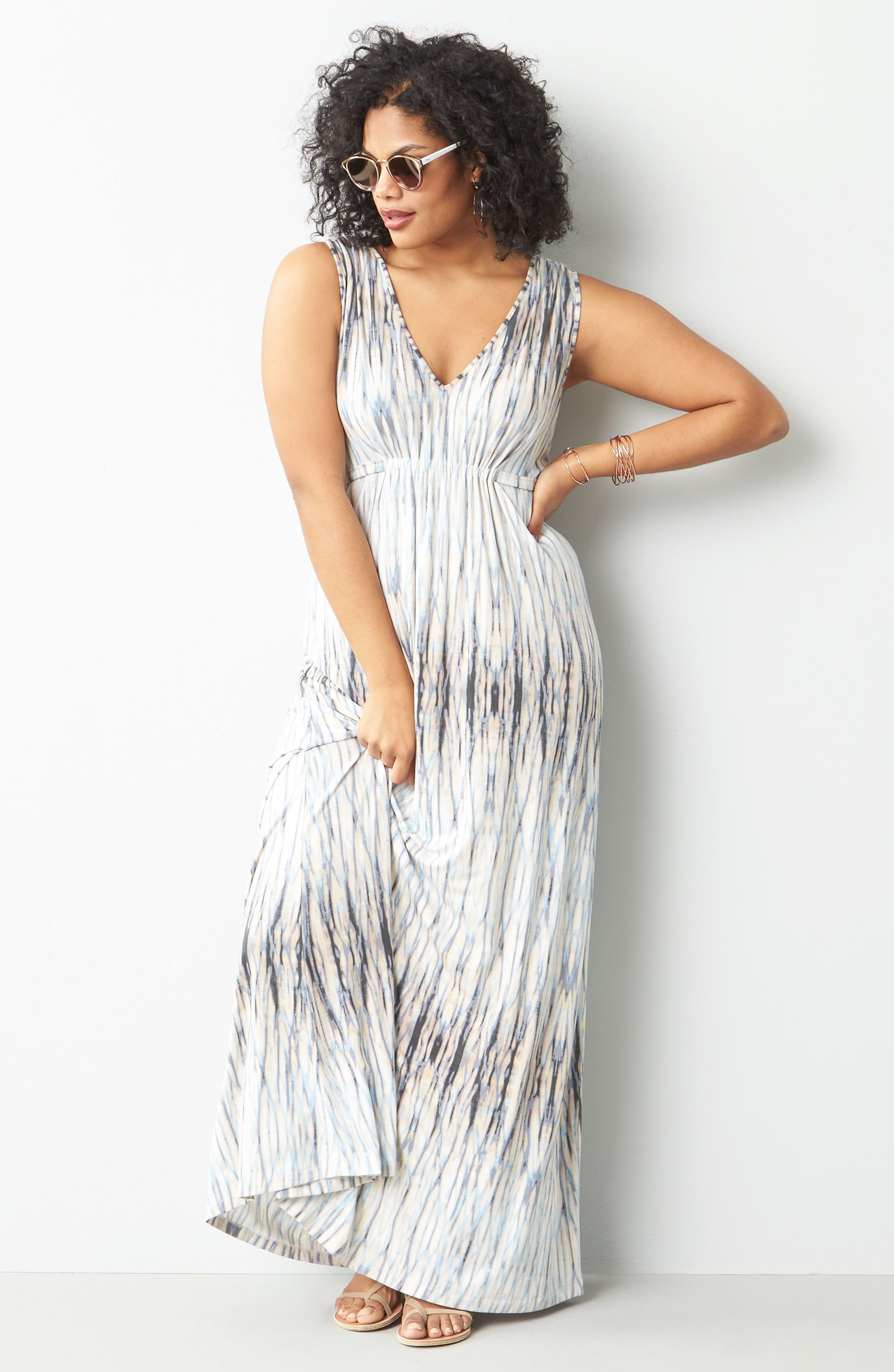 Grecia Sleeveless Jersey Maxi Dress,                             Alternate thumbnail 47, color,