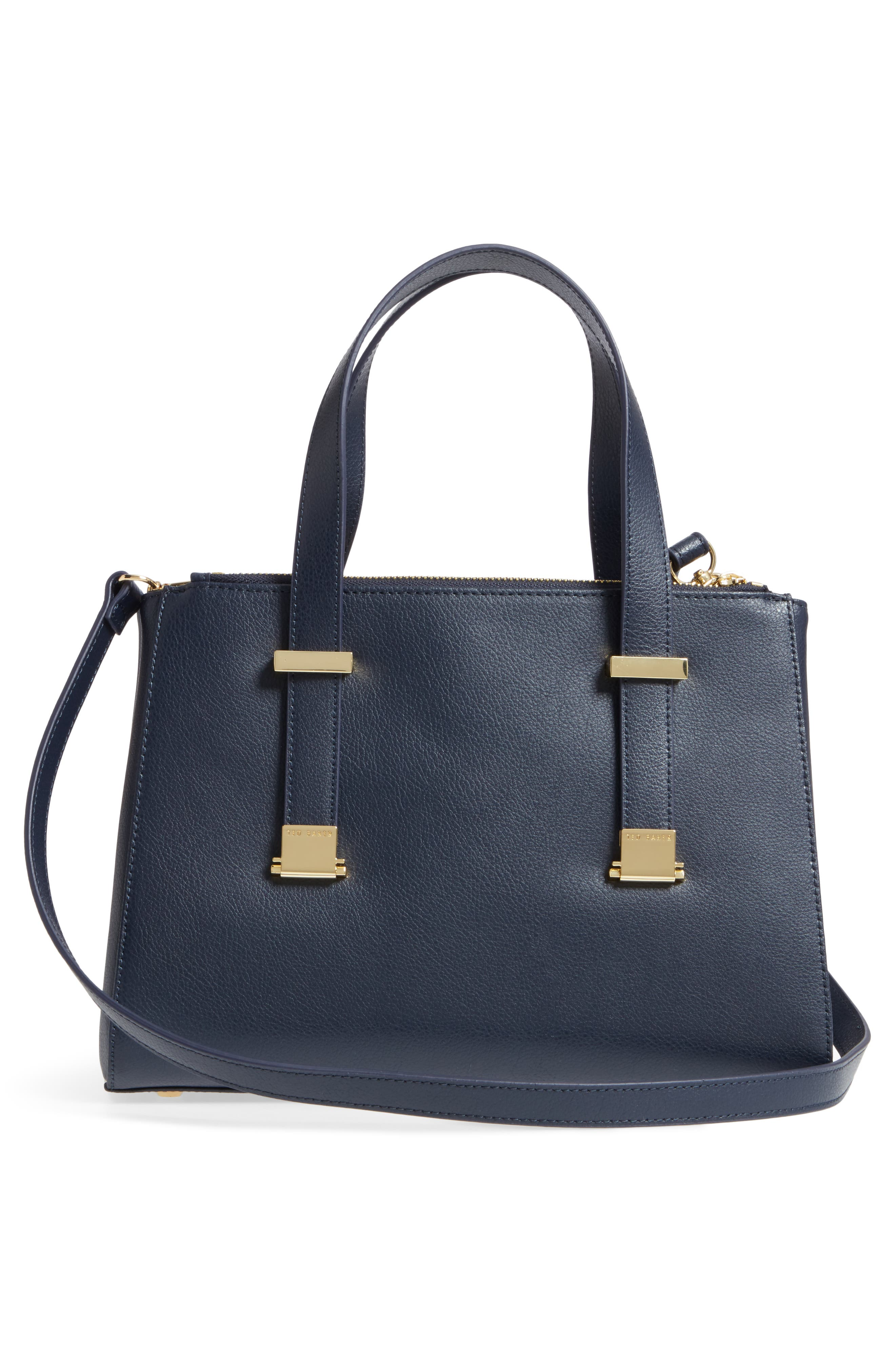 Ameliee Leather Satchel,                             Alternate thumbnail 3, color,