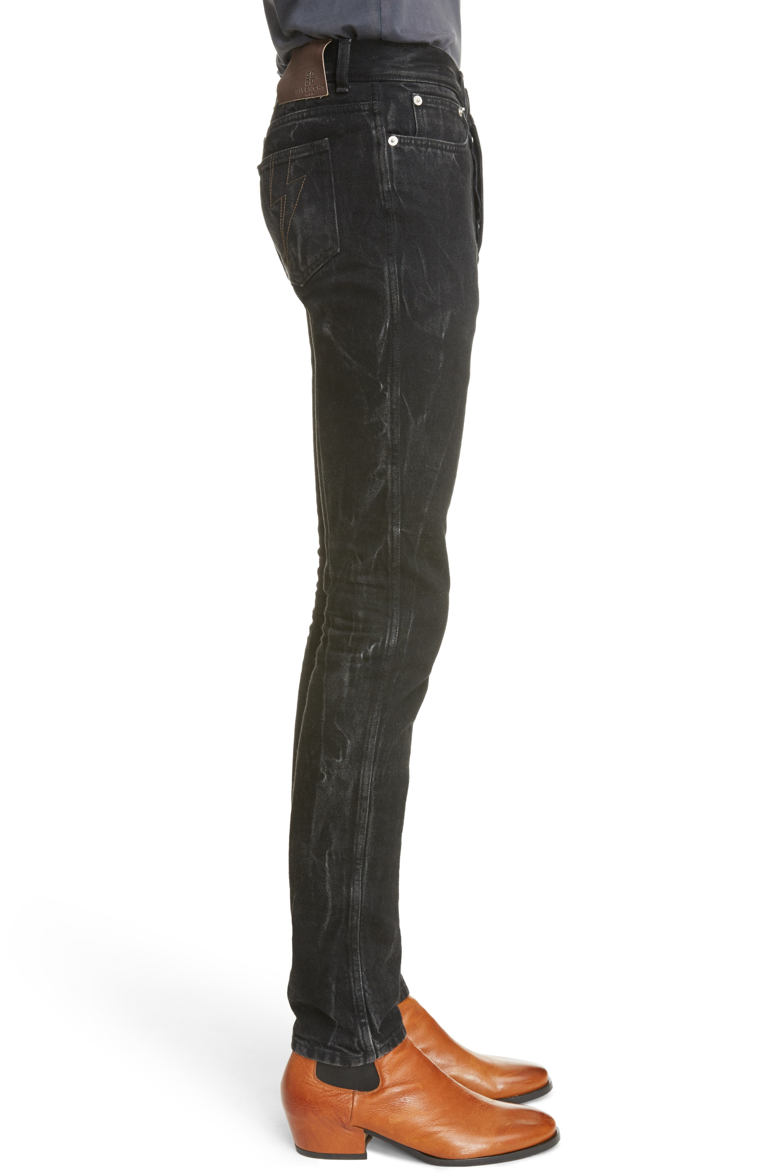 Slim Fit Vintage Wash Jeans,                             Alternate thumbnail 3, color,                             002