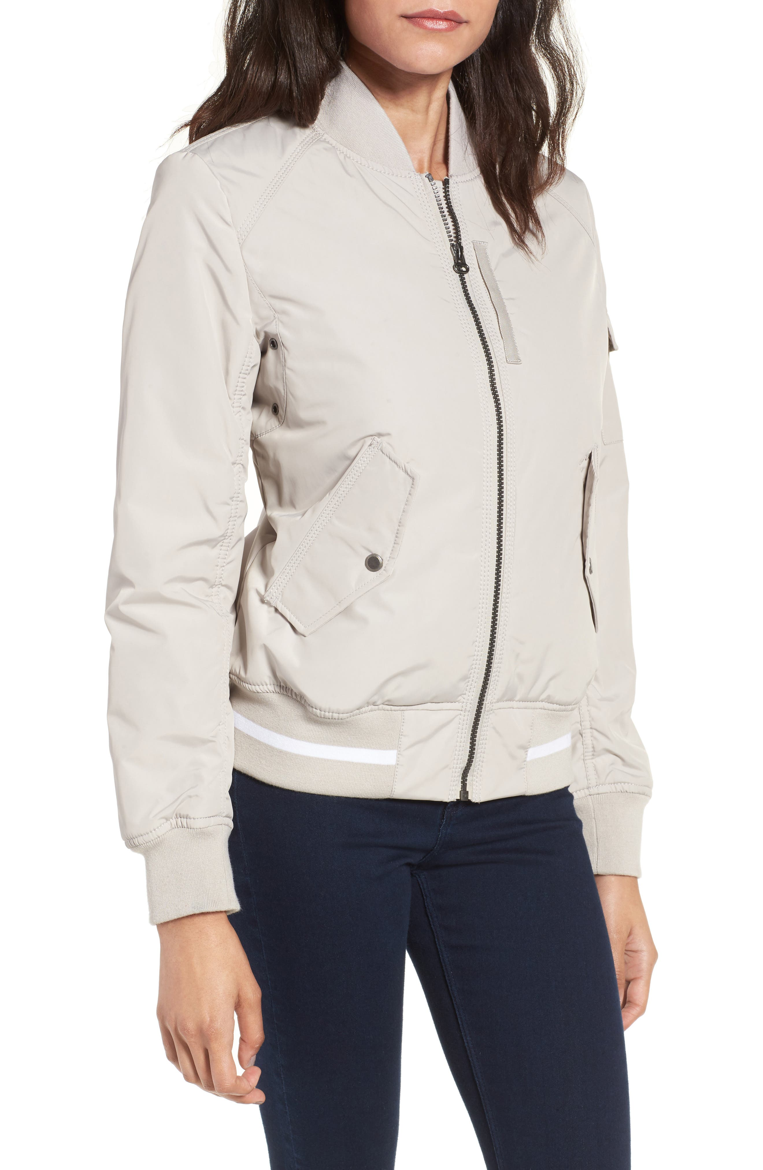 Foster Nylon Twill Bomber Jacket,                             Main thumbnail 3, color,
