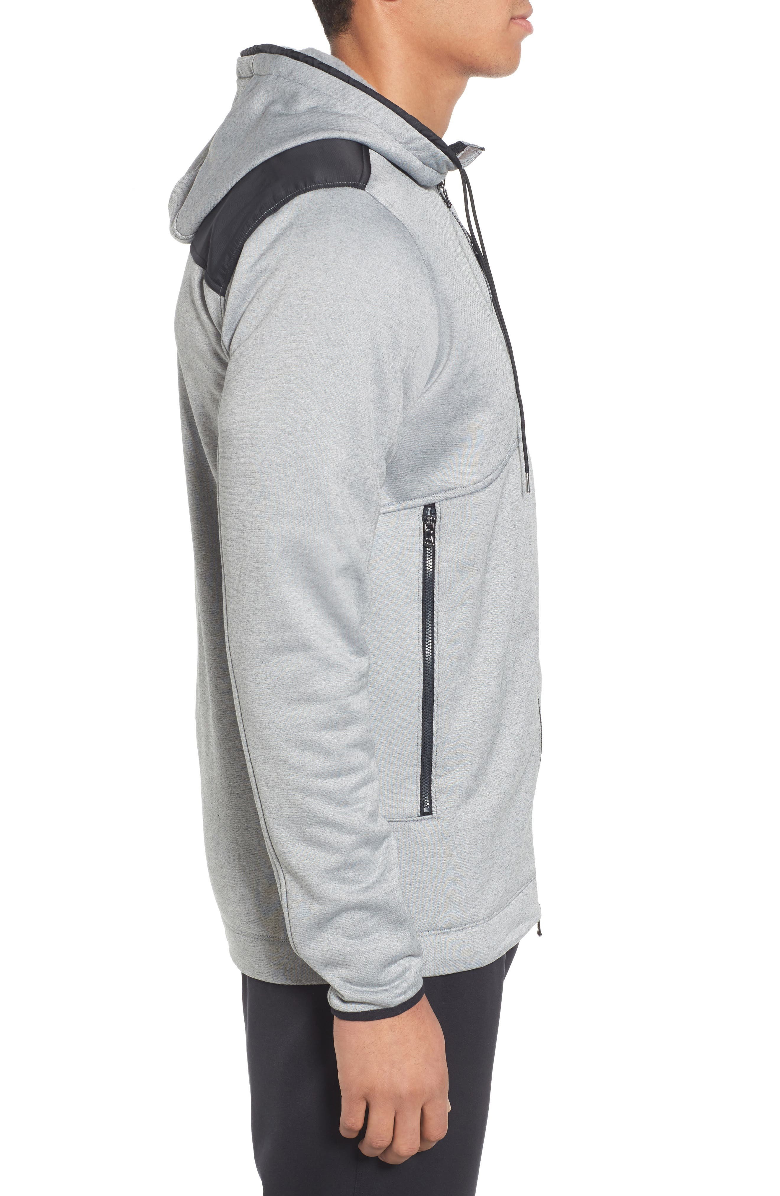 Courtside Stealth Zip Hoodie,                             Alternate thumbnail 10, color,