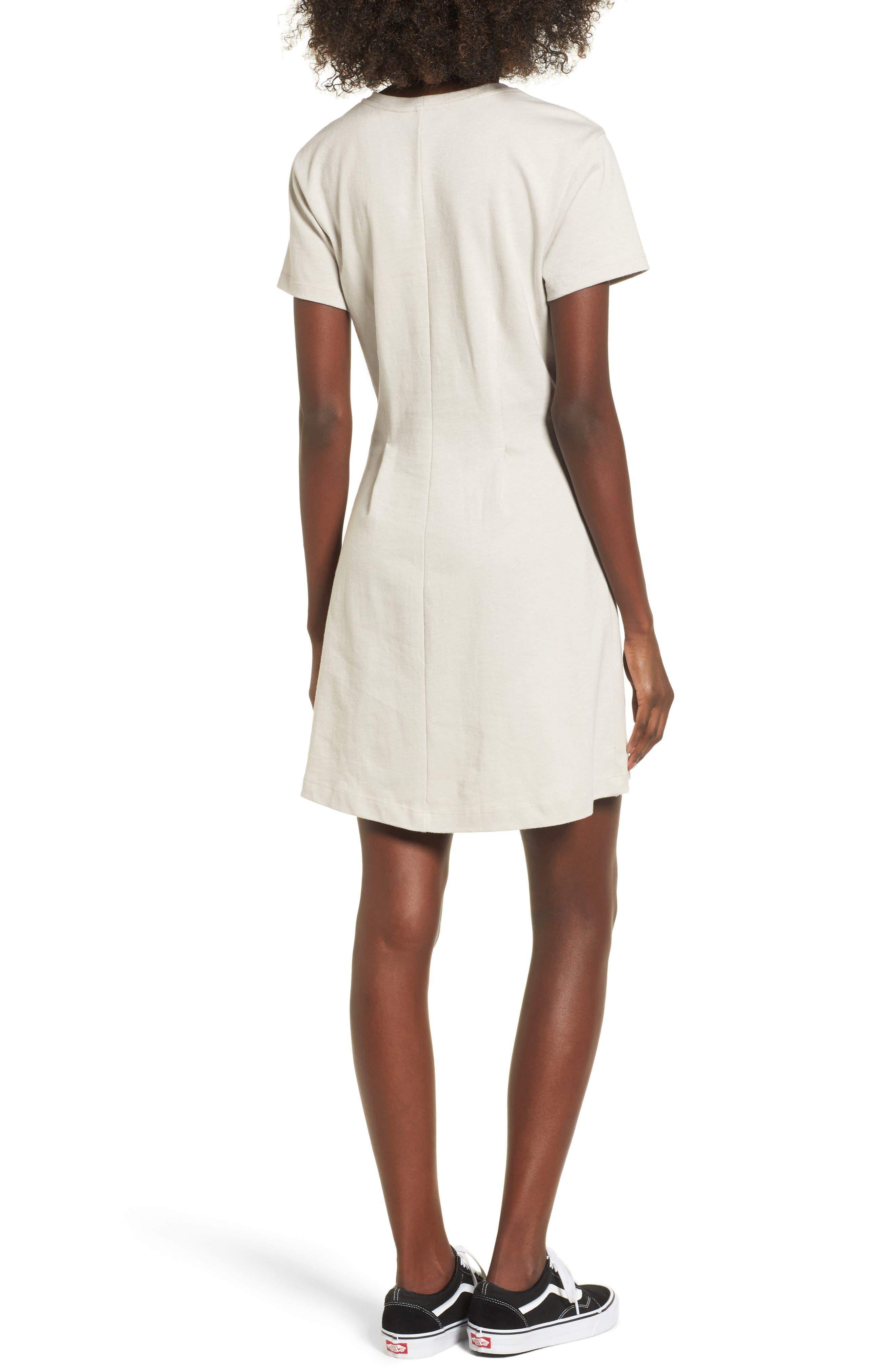 Cotton T-Shirt Dress,                             Alternate thumbnail 4, color,