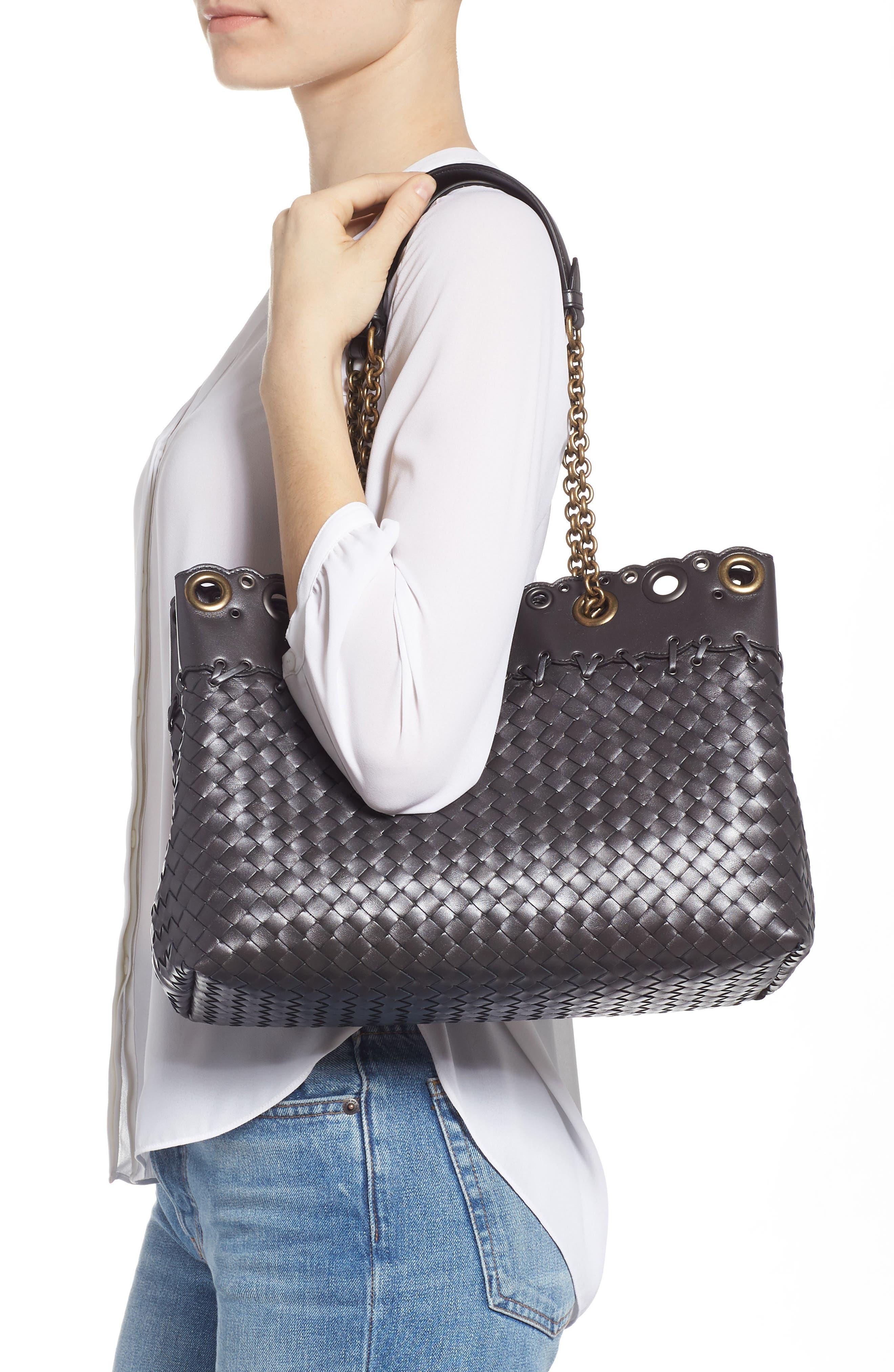 Intrecciato Leather Tote Bag,                             Alternate thumbnail 2, color,                             040