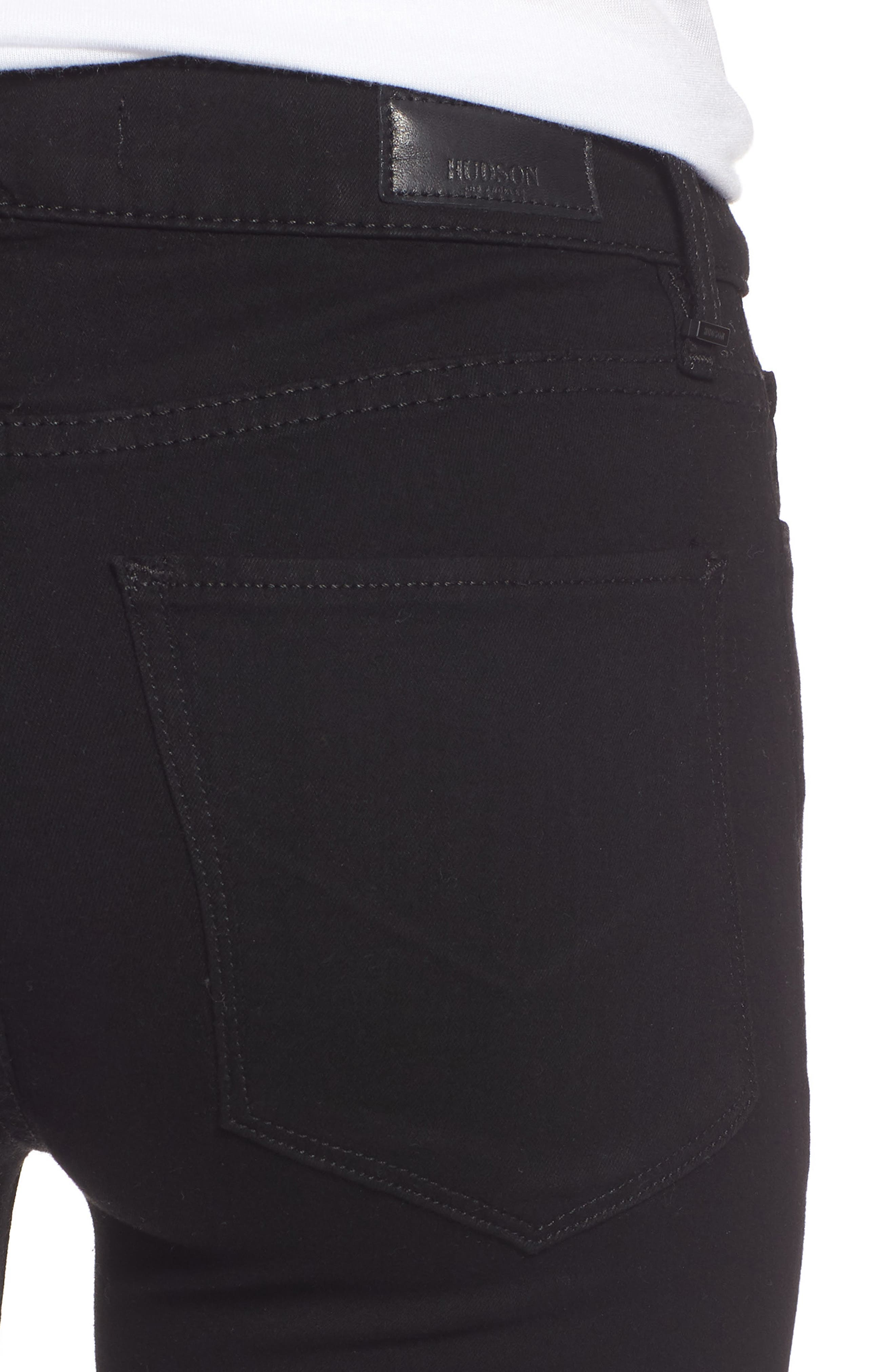 Drew Bootcut Jeans,                             Alternate thumbnail 4, color,                             BLACK