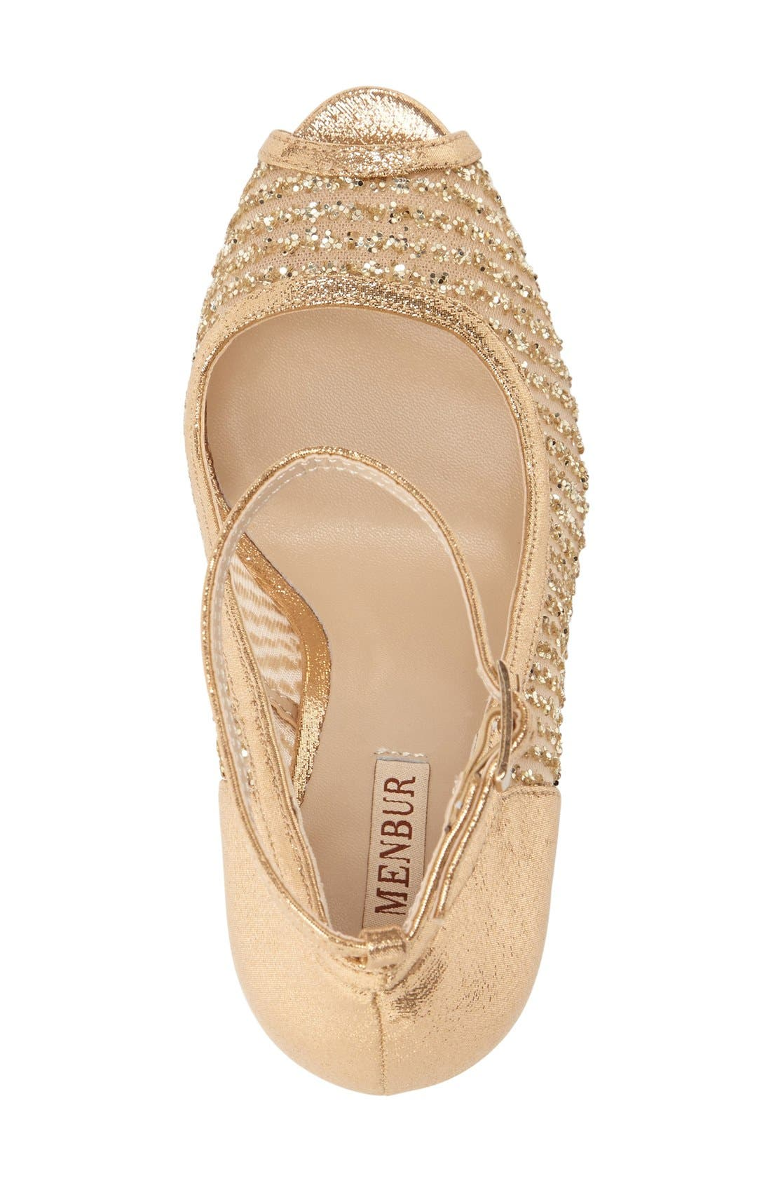 'Tambre' Glitter Platform Sandal,                             Alternate thumbnail 3, color,                             273
