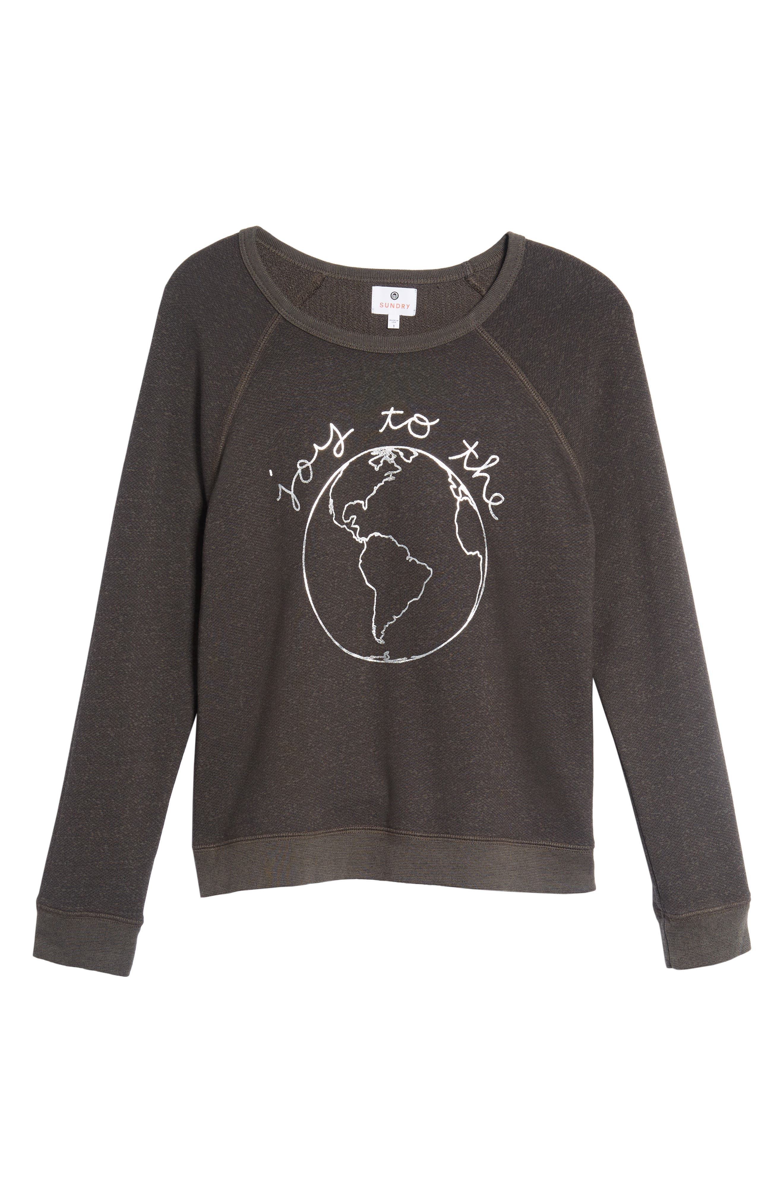 Joy to the World Sweatshirt,                             Alternate thumbnail 6, color,