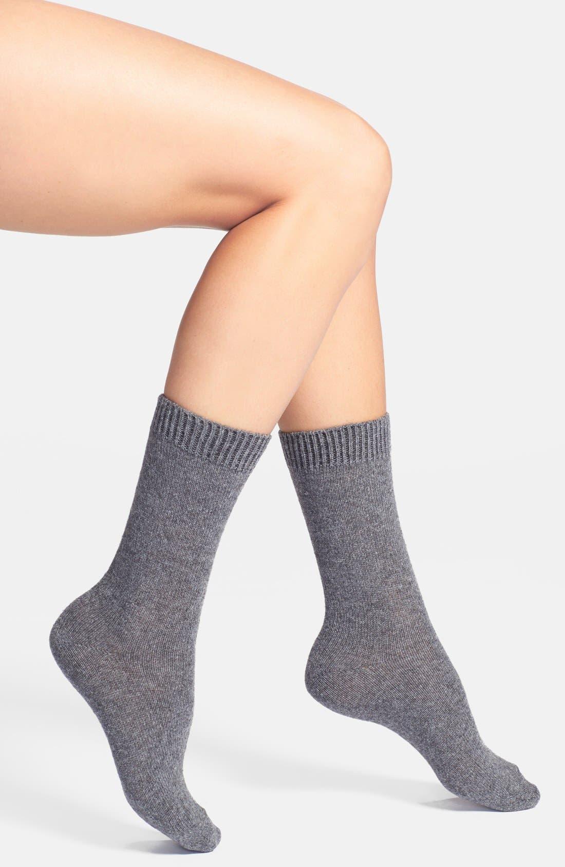 'Luxury' Crew Socks,                             Main thumbnail 3, color,