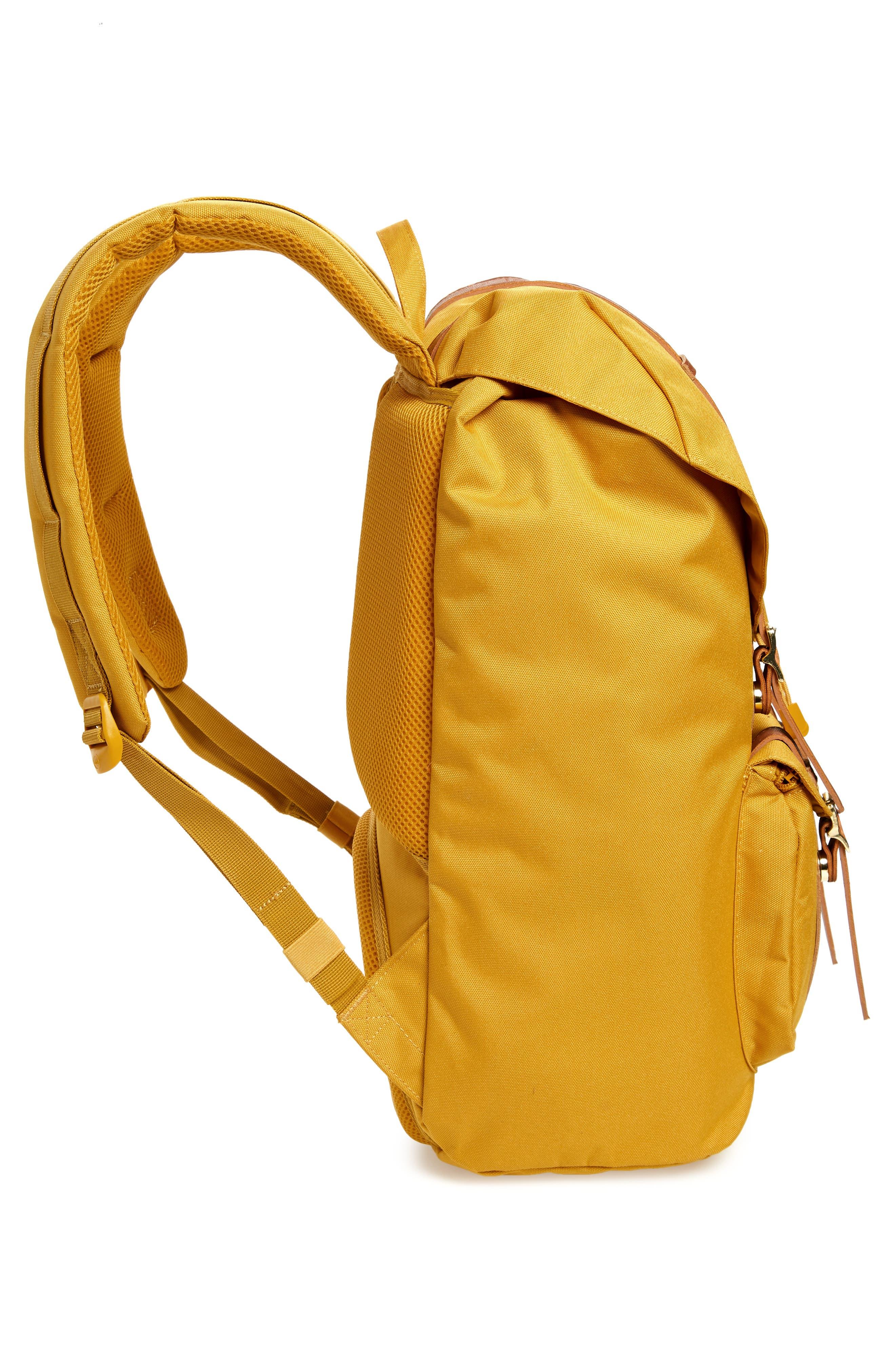Little America Backpack,                             Alternate thumbnail 5, color,                             ARROW WOOD/ TAN LEATHER