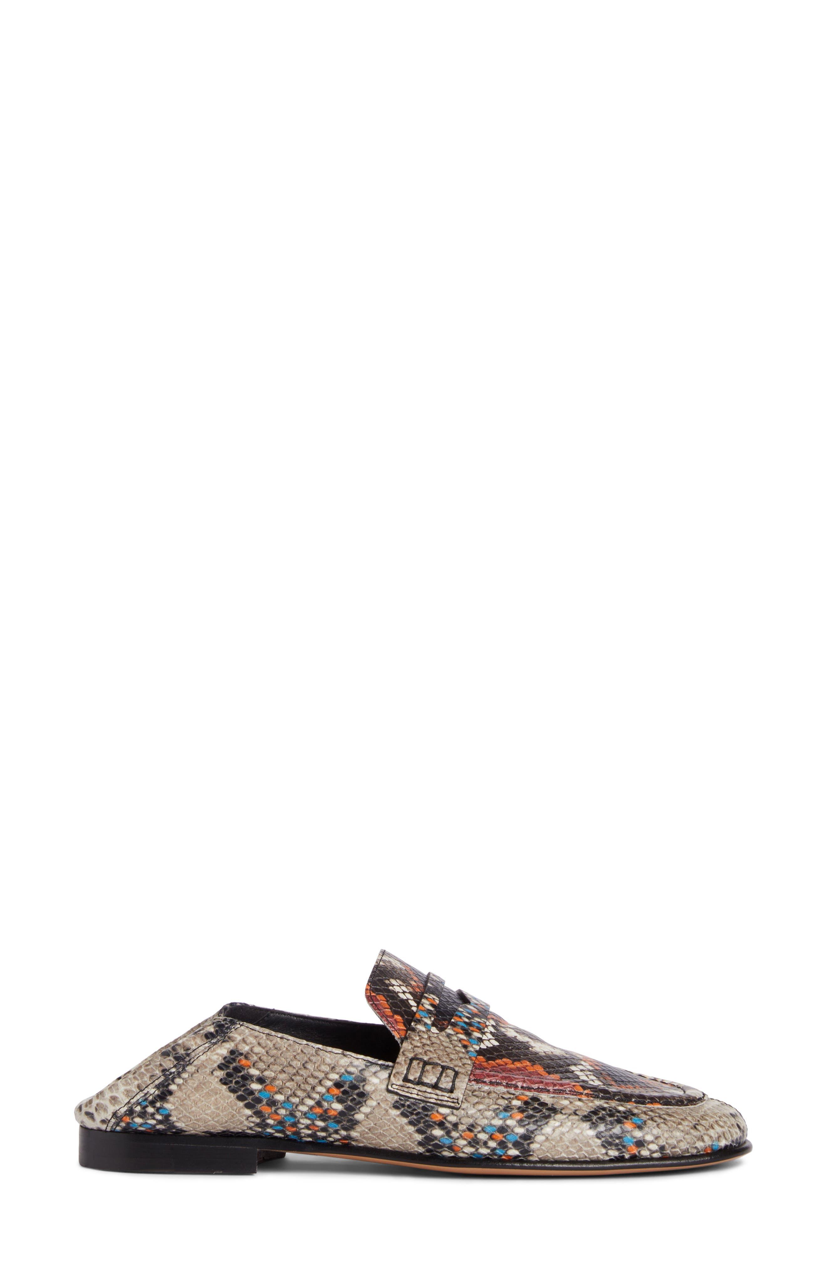 Fezzy Snakeskin Embossed Convertible Loafer,                             Alternate thumbnail 3, color,