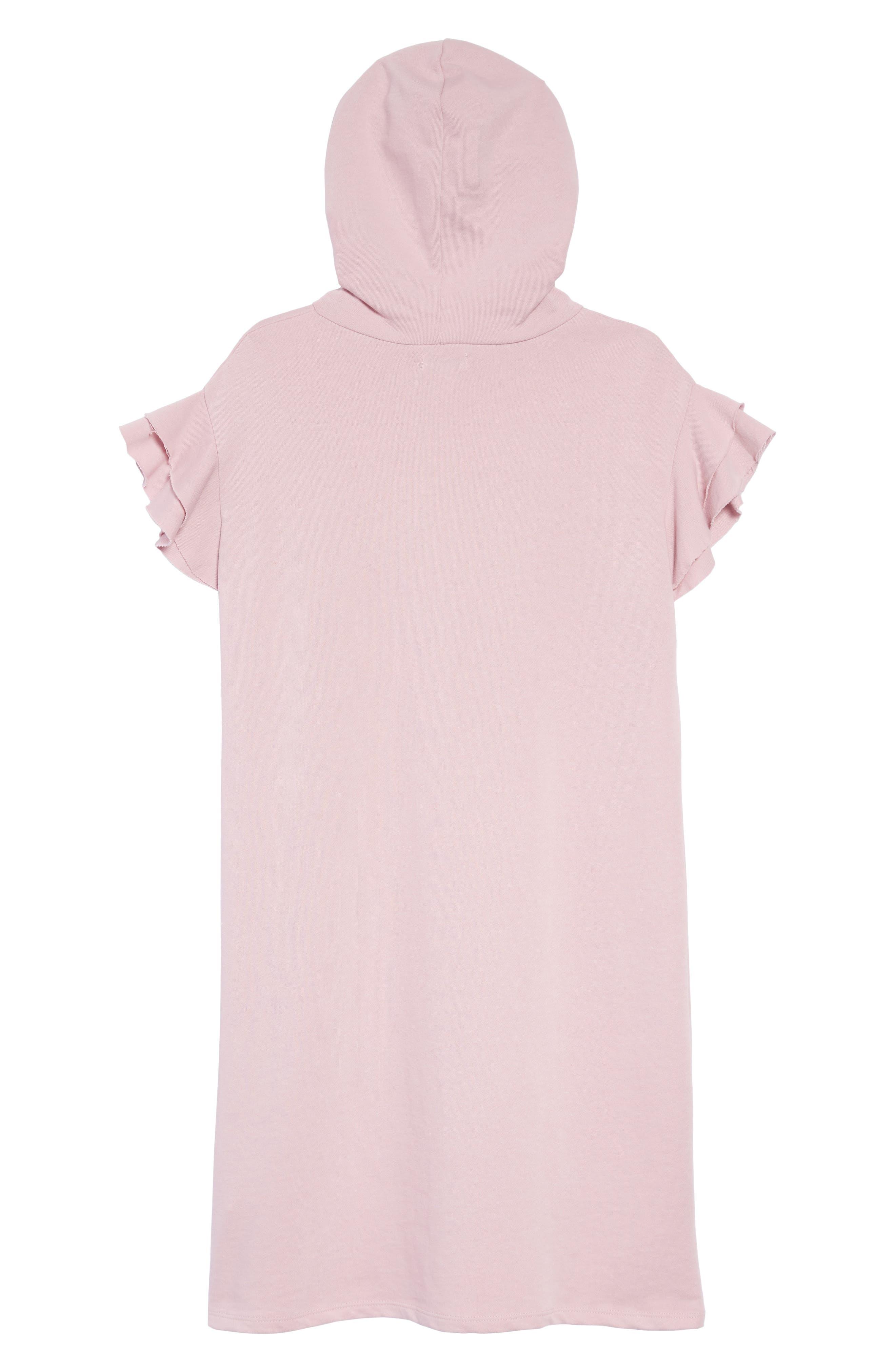 Ruffle Sleeve Hoodie Dress,                             Alternate thumbnail 2, color,                             650