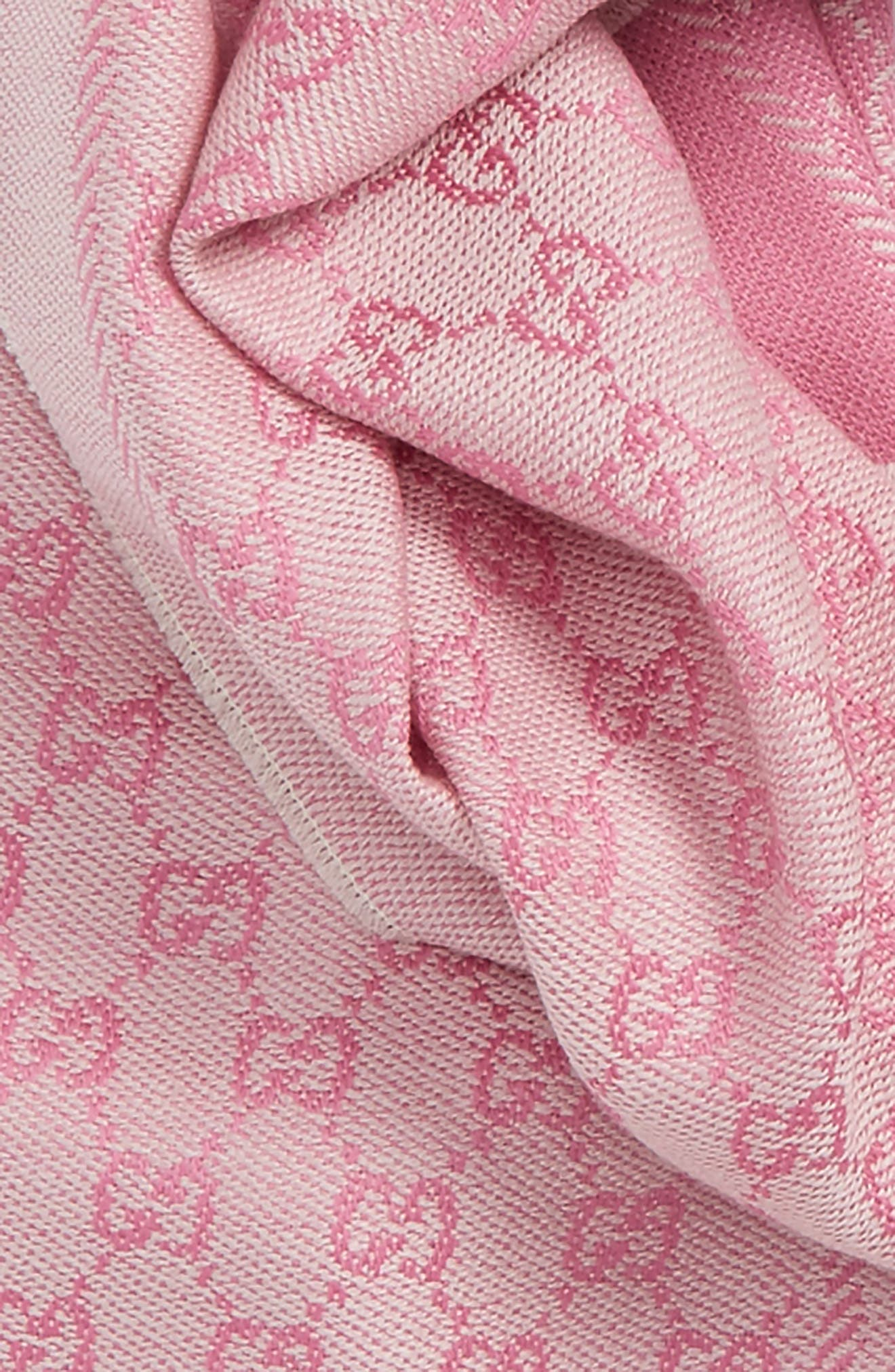 GG Jacquard Wool Scarf,                             Alternate thumbnail 3, color,                             900
