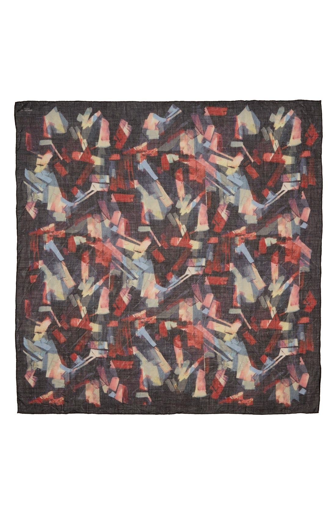 LAFAYETTE 148 NEW YORK Wool, Silk & Cashmere Scarf, Main, color, 424