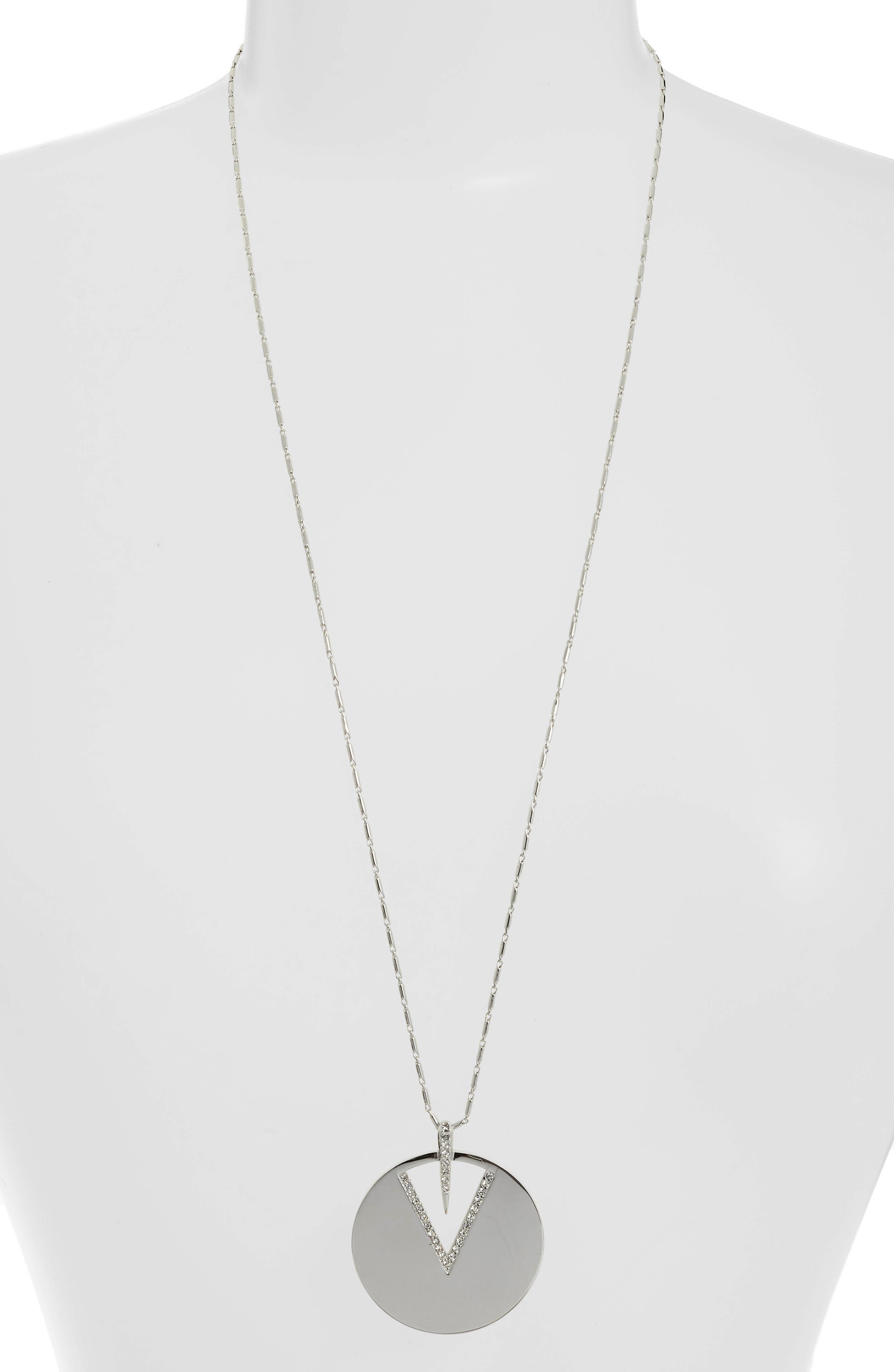 Disc Necklace,                         Main,                         color, 040