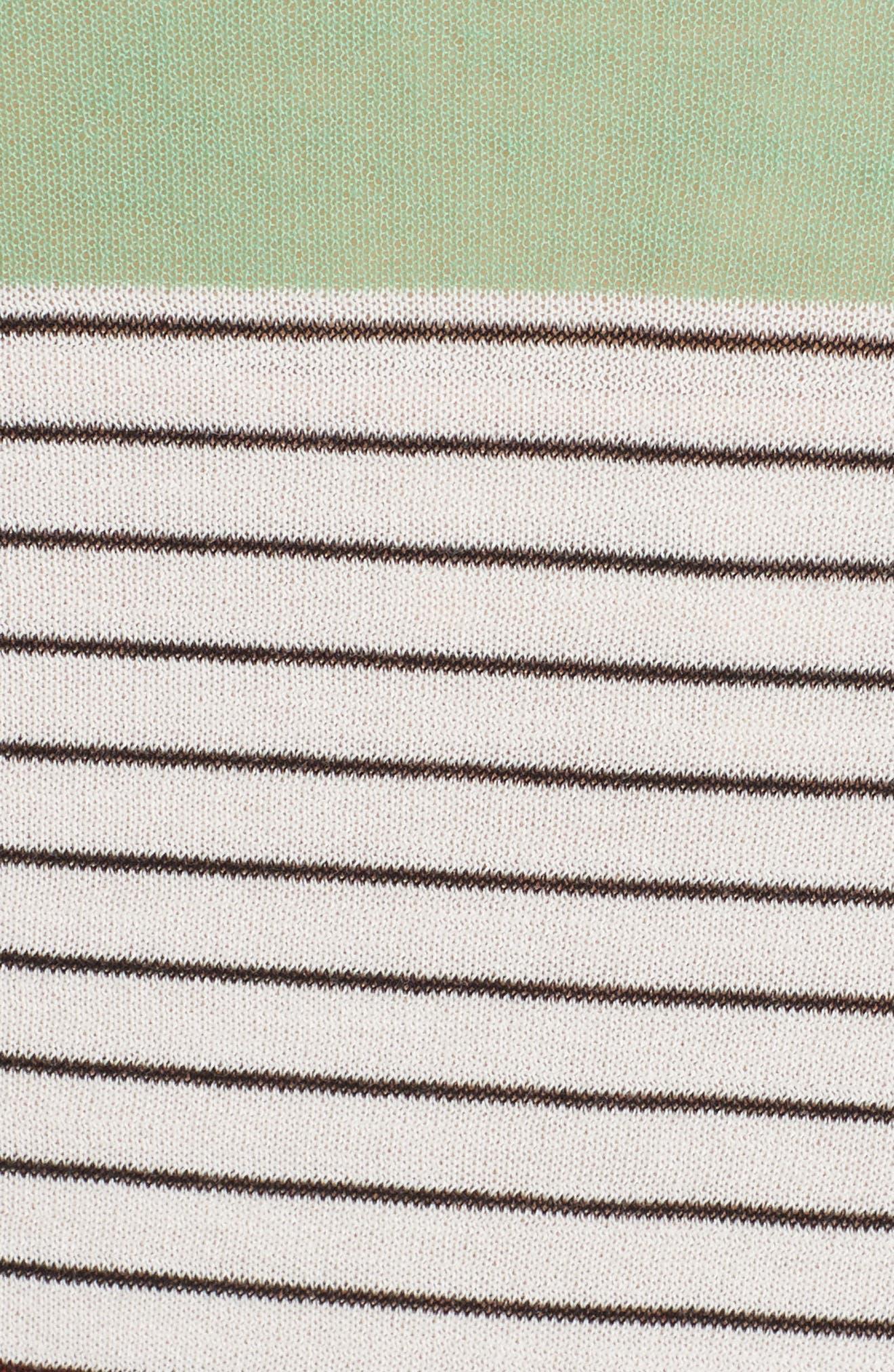 Colorblock Knit Midi Dress,                             Alternate thumbnail 6, color,                             441