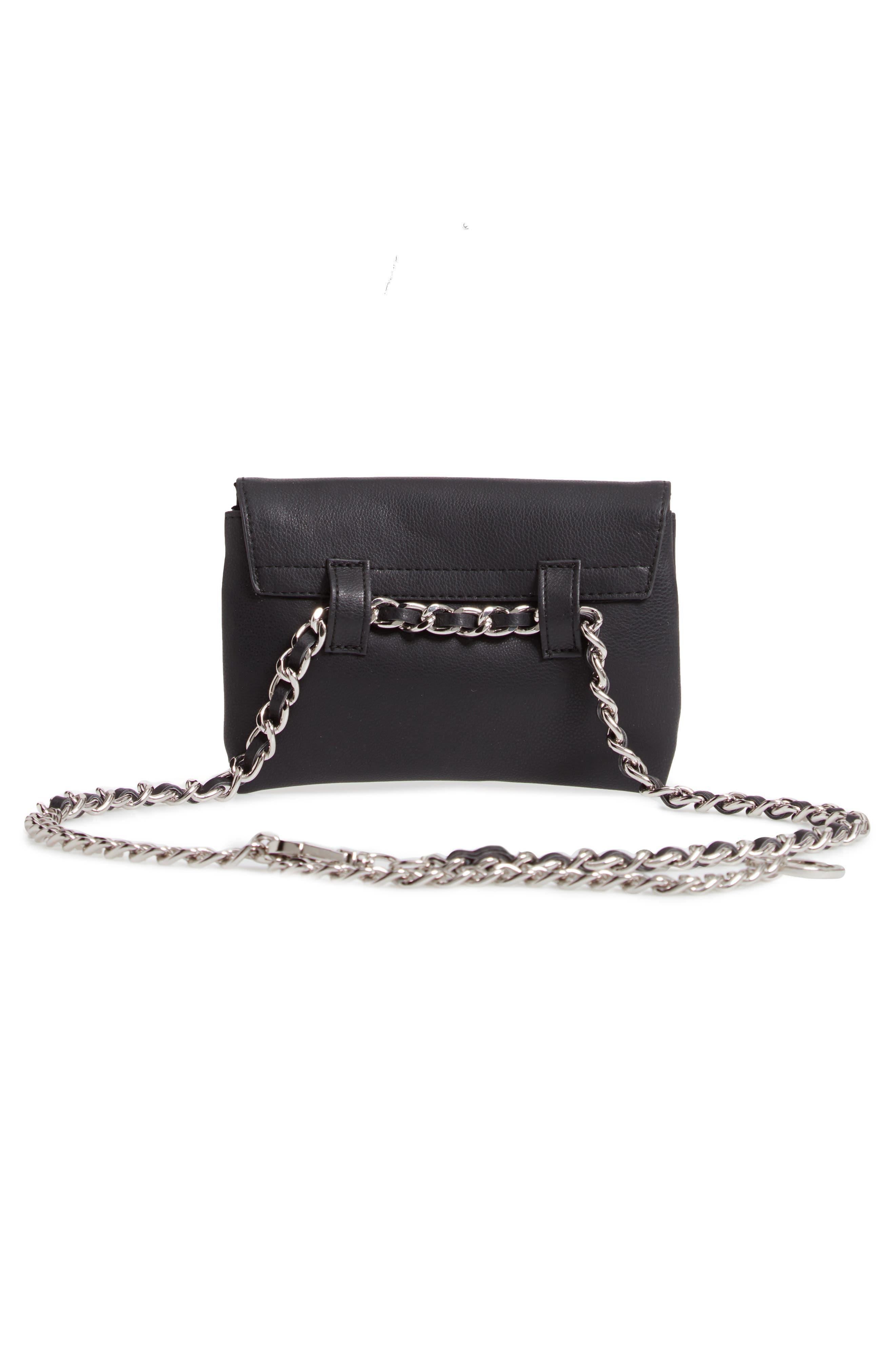 Chain Belt Bag,                             Alternate thumbnail 4, color,                             002