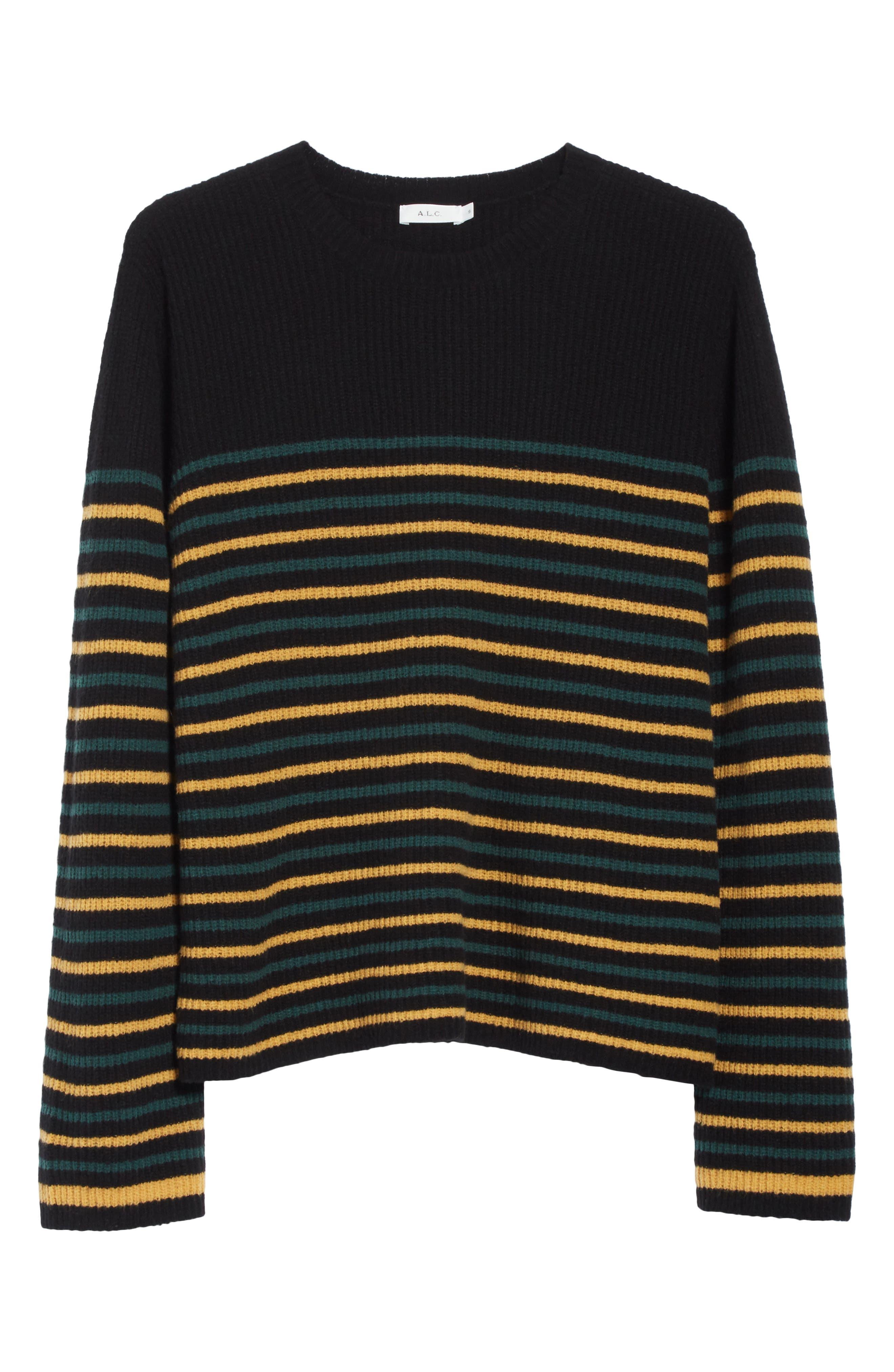 Meryl Stripe Sweater,                             Alternate thumbnail 11, color,