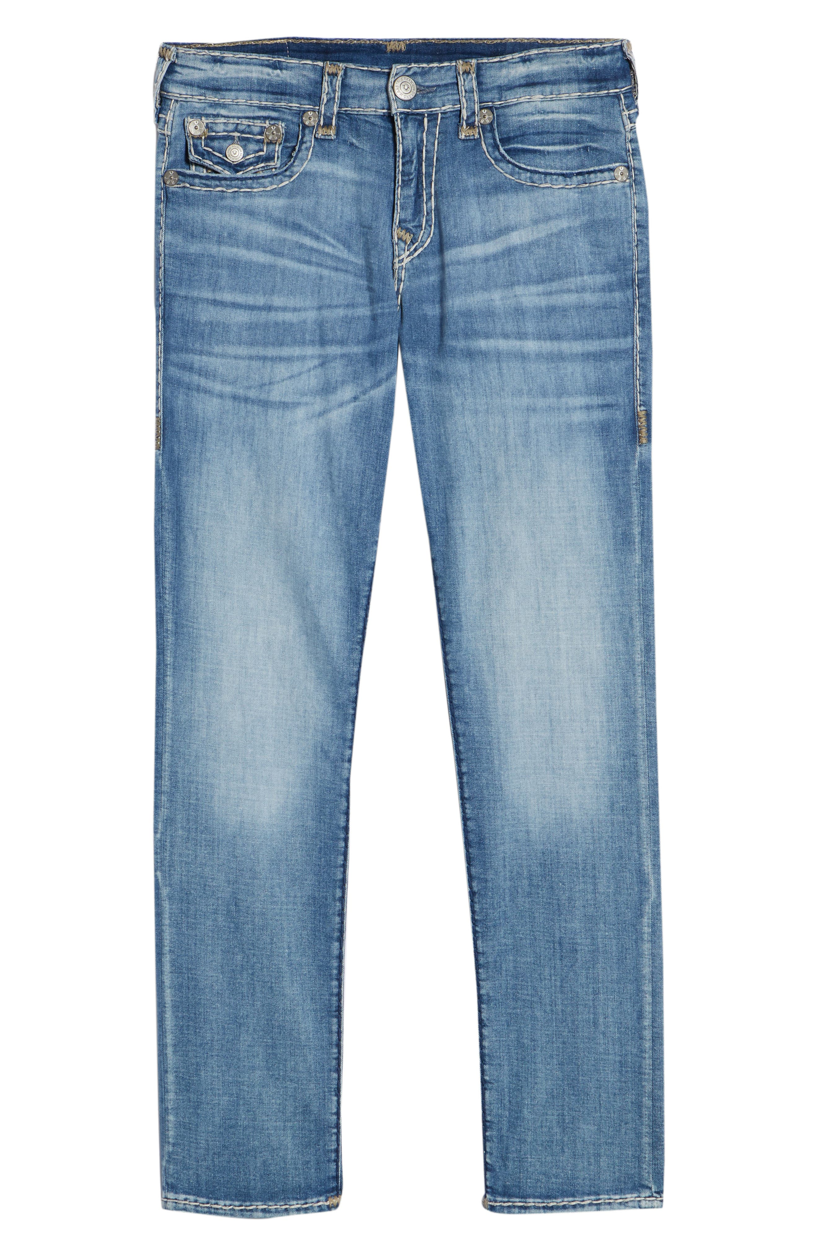 Geno Straight Leg Jeans,                             Alternate thumbnail 6, color,                             401
