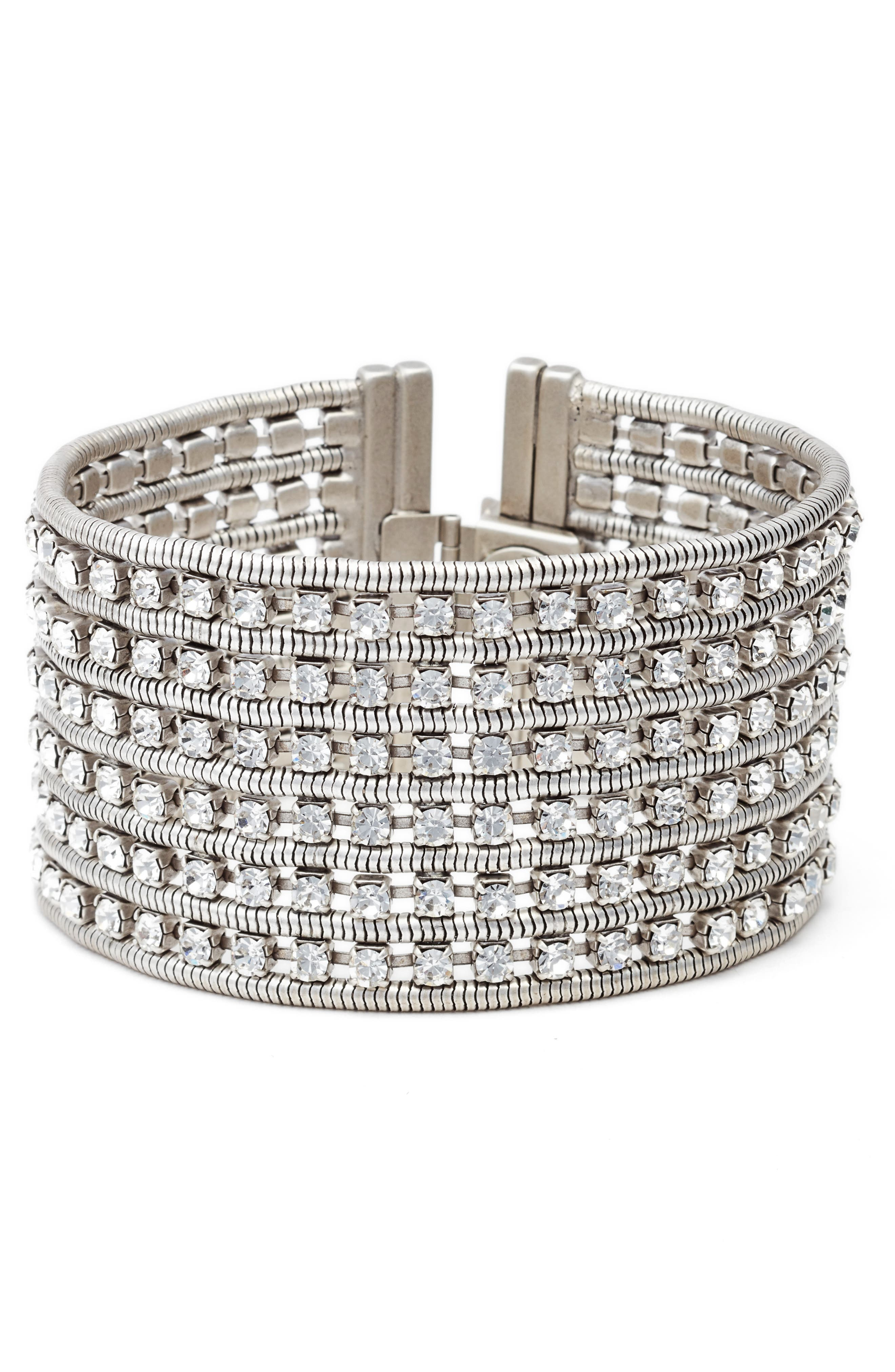 Nina Wide Bracelet,                             Main thumbnail 1, color,                             040