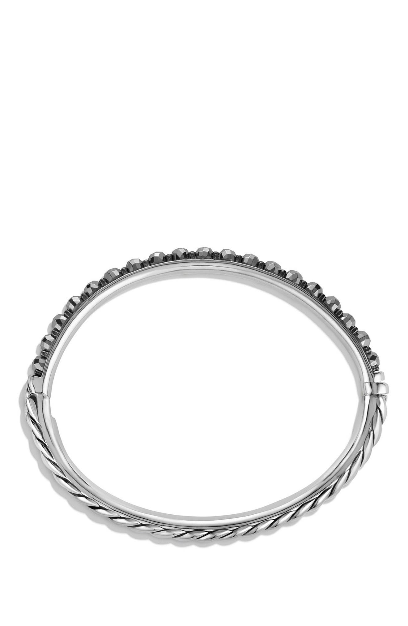 Cable Berries Bangle,                             Alternate thumbnail 2, color,                             HEMATINE