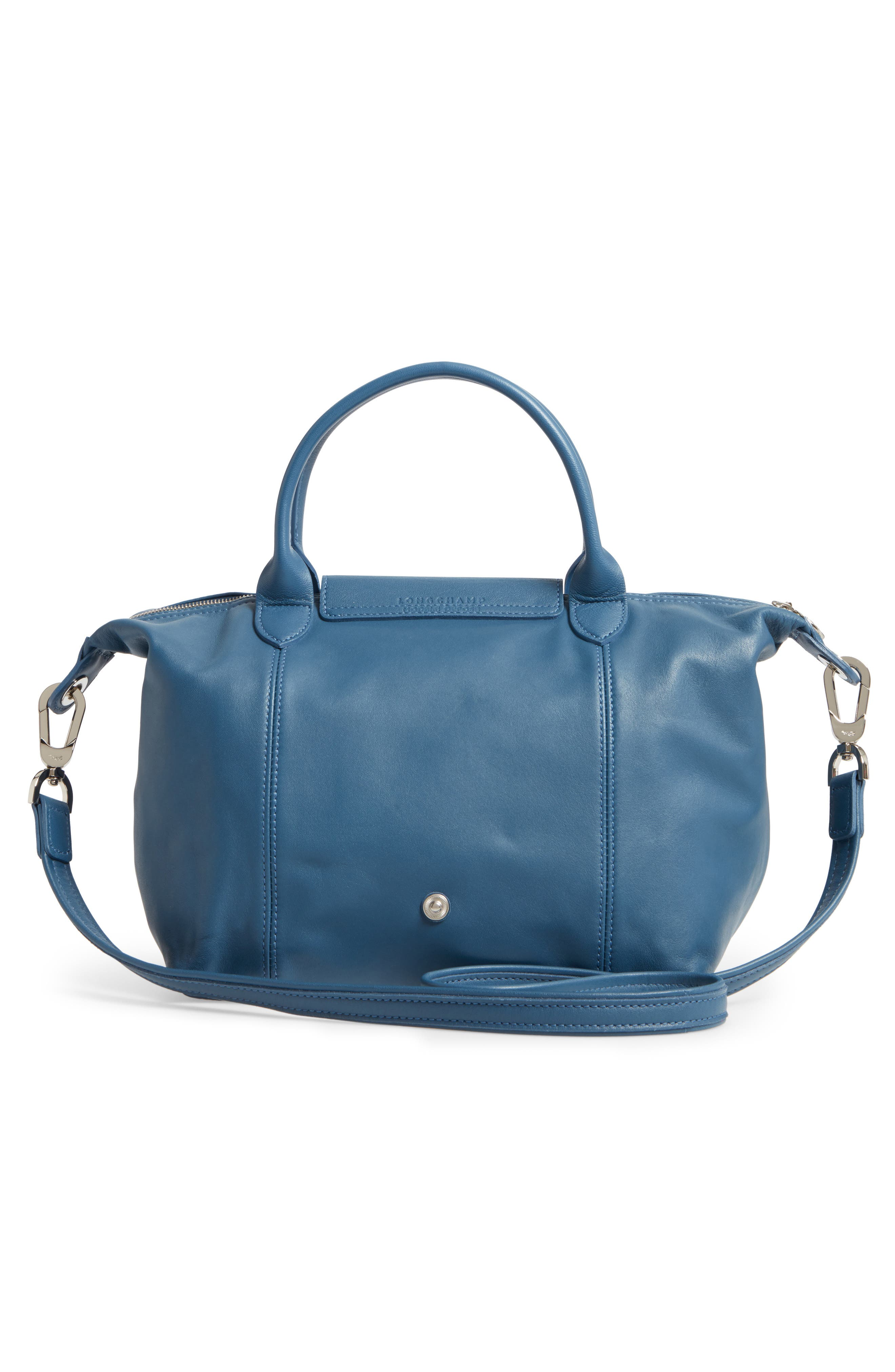 Small 'Le Pliage Cuir' Leather Top Handle Tote,                             Alternate thumbnail 49, color,